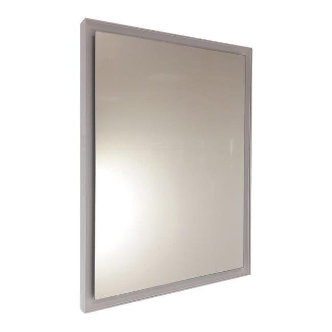 Specchio Con Cornice Bagno Rettangolare L 100 X H 70 Cm Leroy Merlin