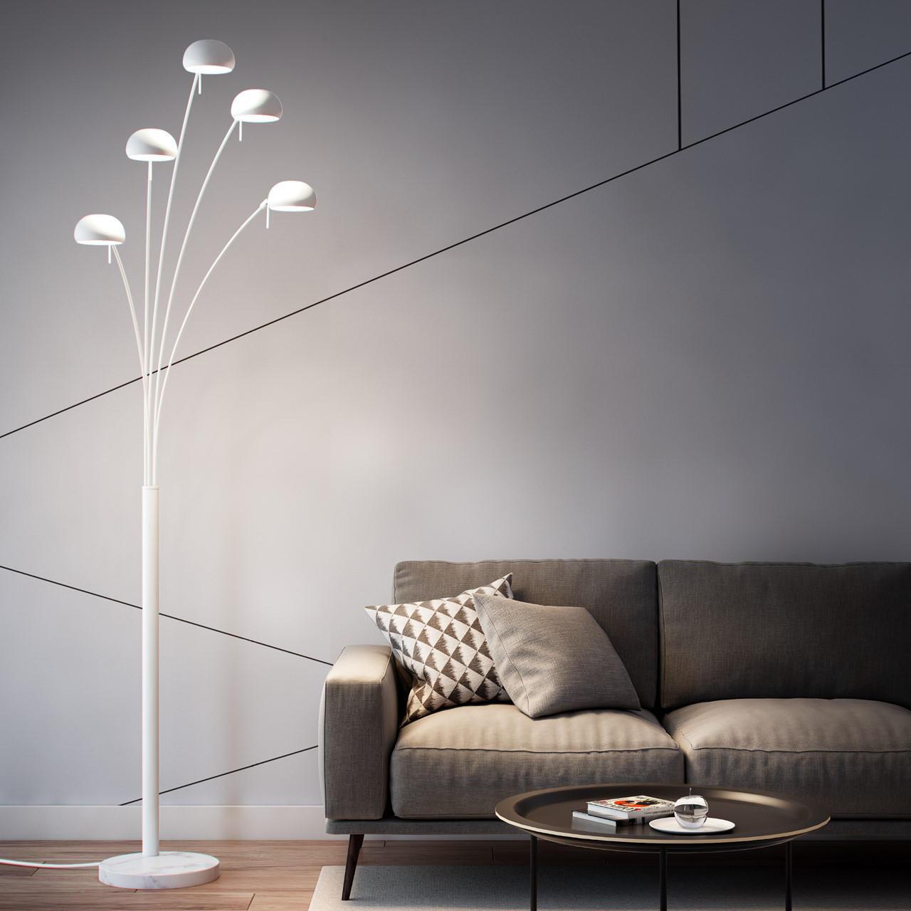 Lampada da terra in metallo, H224.0cm, E14 5xINSPIRE - 4