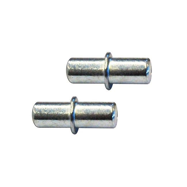 Supporto per ripiano L 5 x H 6 x P 5 cm grigio / argento - 1