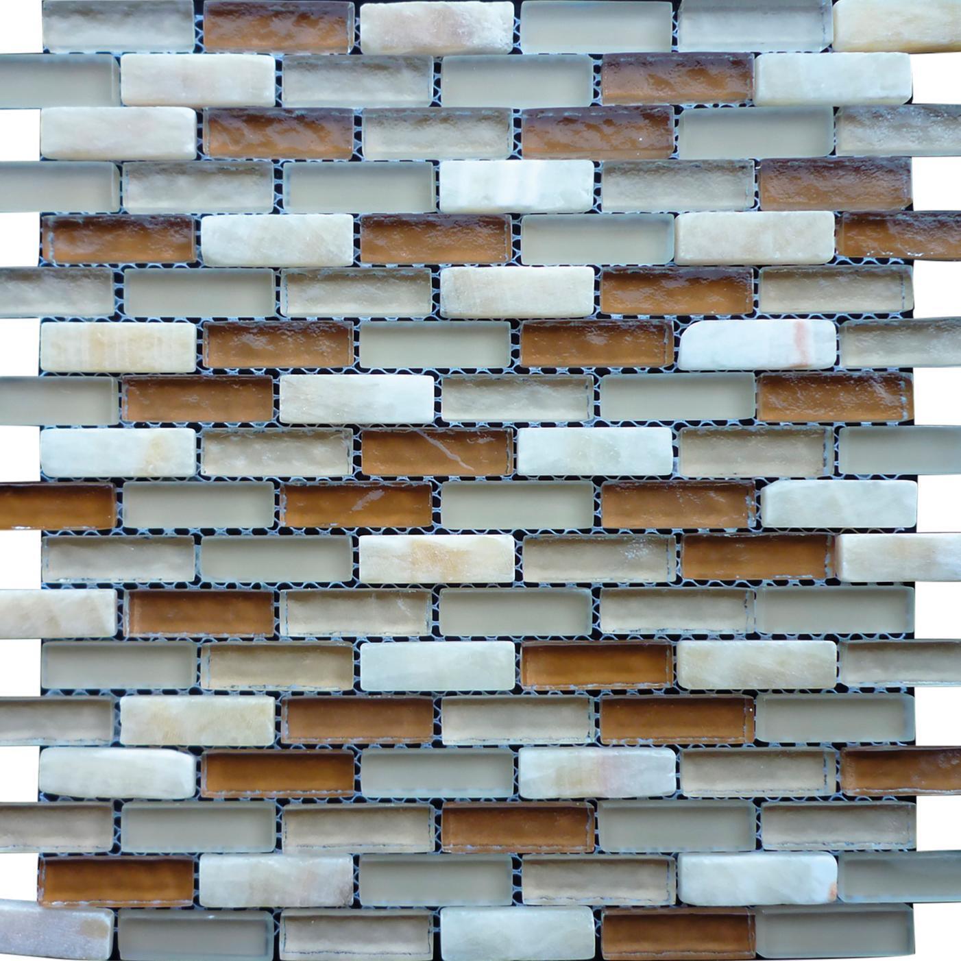Mosaico H 30 x L 30 cm beige - 2