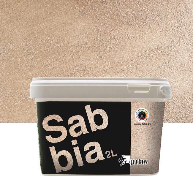 Pittura decorativa GECKOS Sabbia 2 l marrone talpa 5 effetto sabbiato - 1