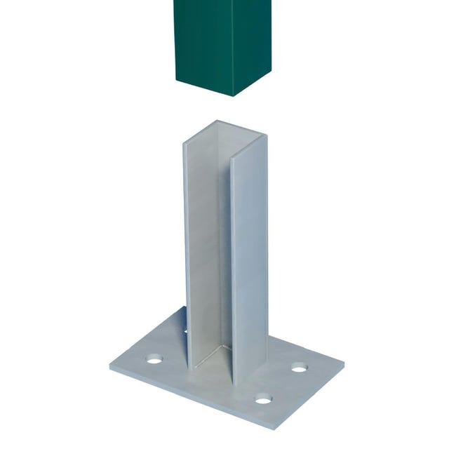 Supporto per fissare FERRO BULLONI in acciaio galvanizzato da fissare grigio L 10x H 21 - 1