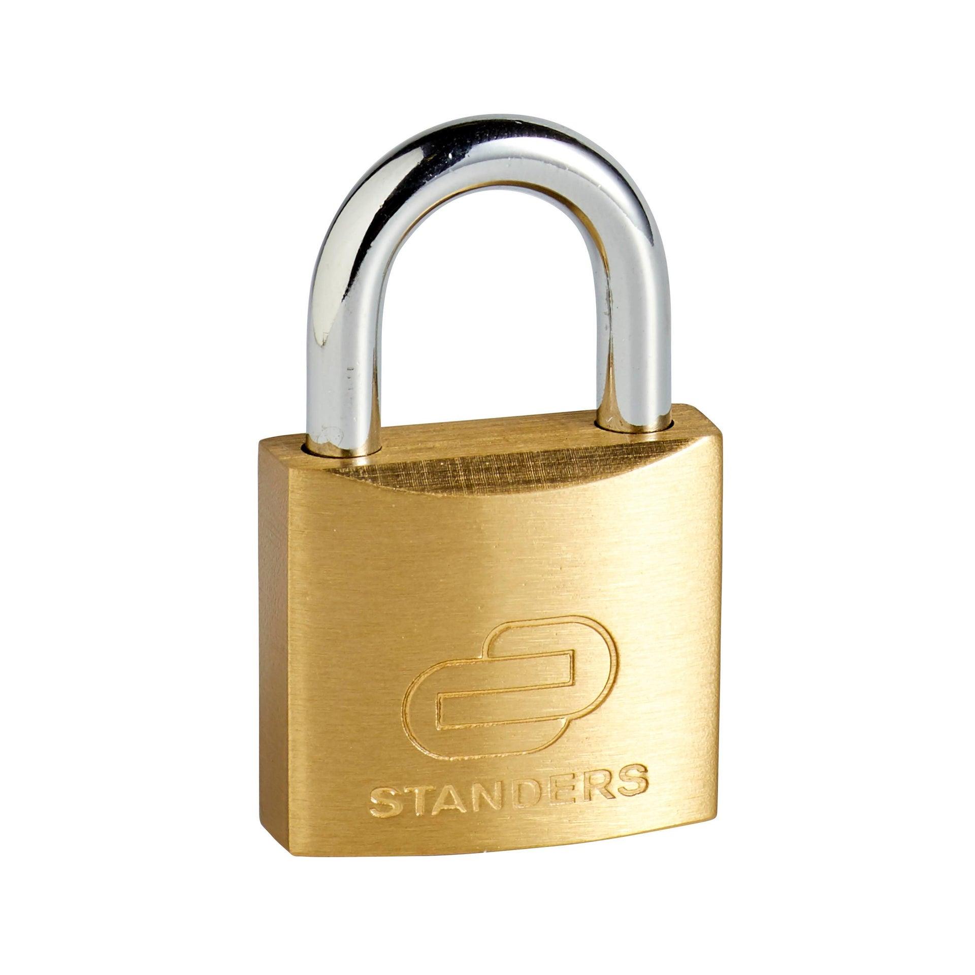 Lucchetto con chiave STANDERS in ottone x L 15 x Ø 5 mm - 5