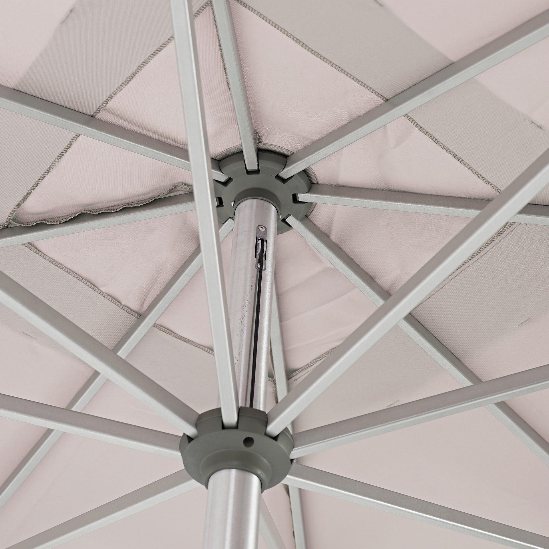 Ombrellone NATERIAL Aura L 2.85 x P 2.85 m color tortora - 5