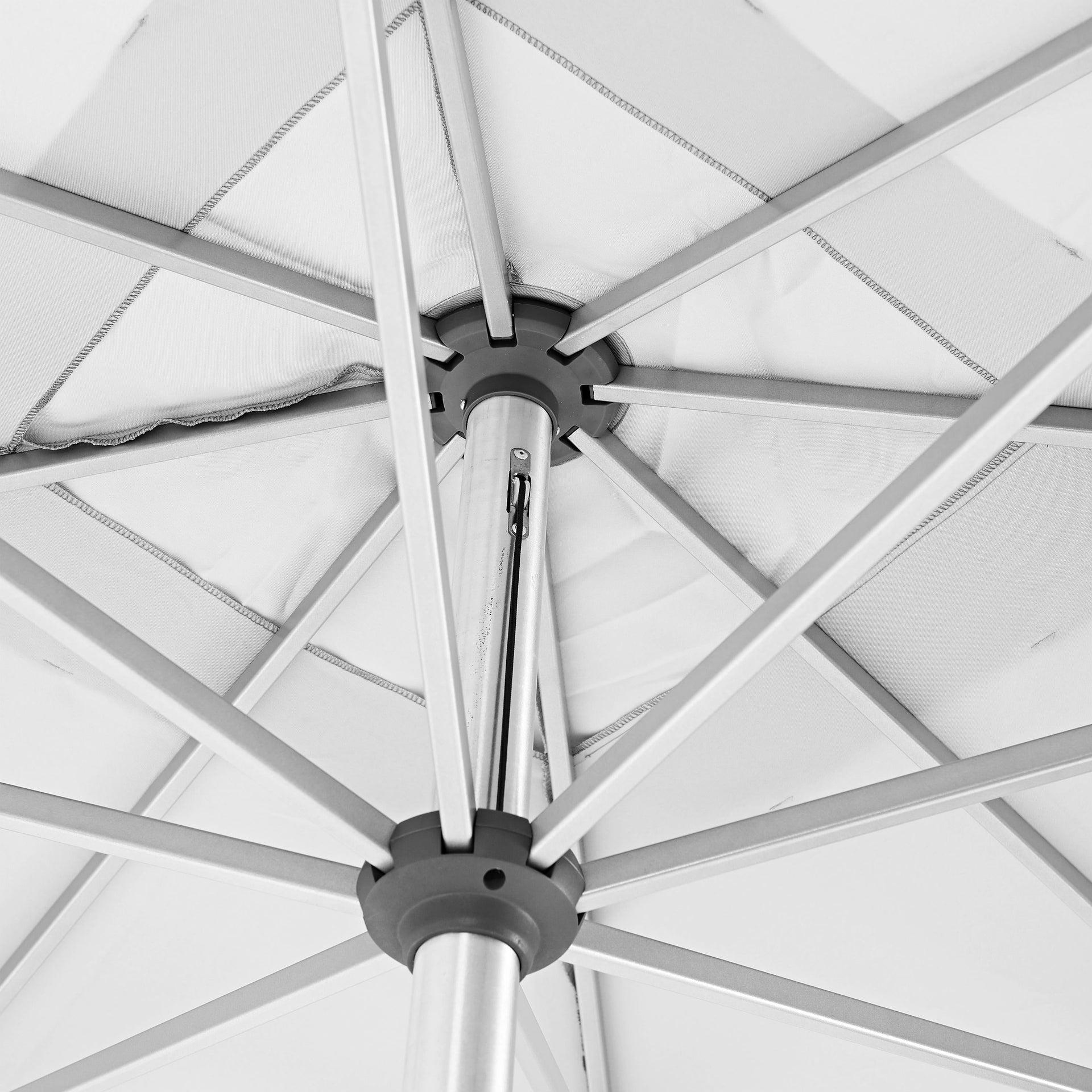 Ombrellone NATERIAL Aura L 2.85 x P 2.85 m color bianco - 2
