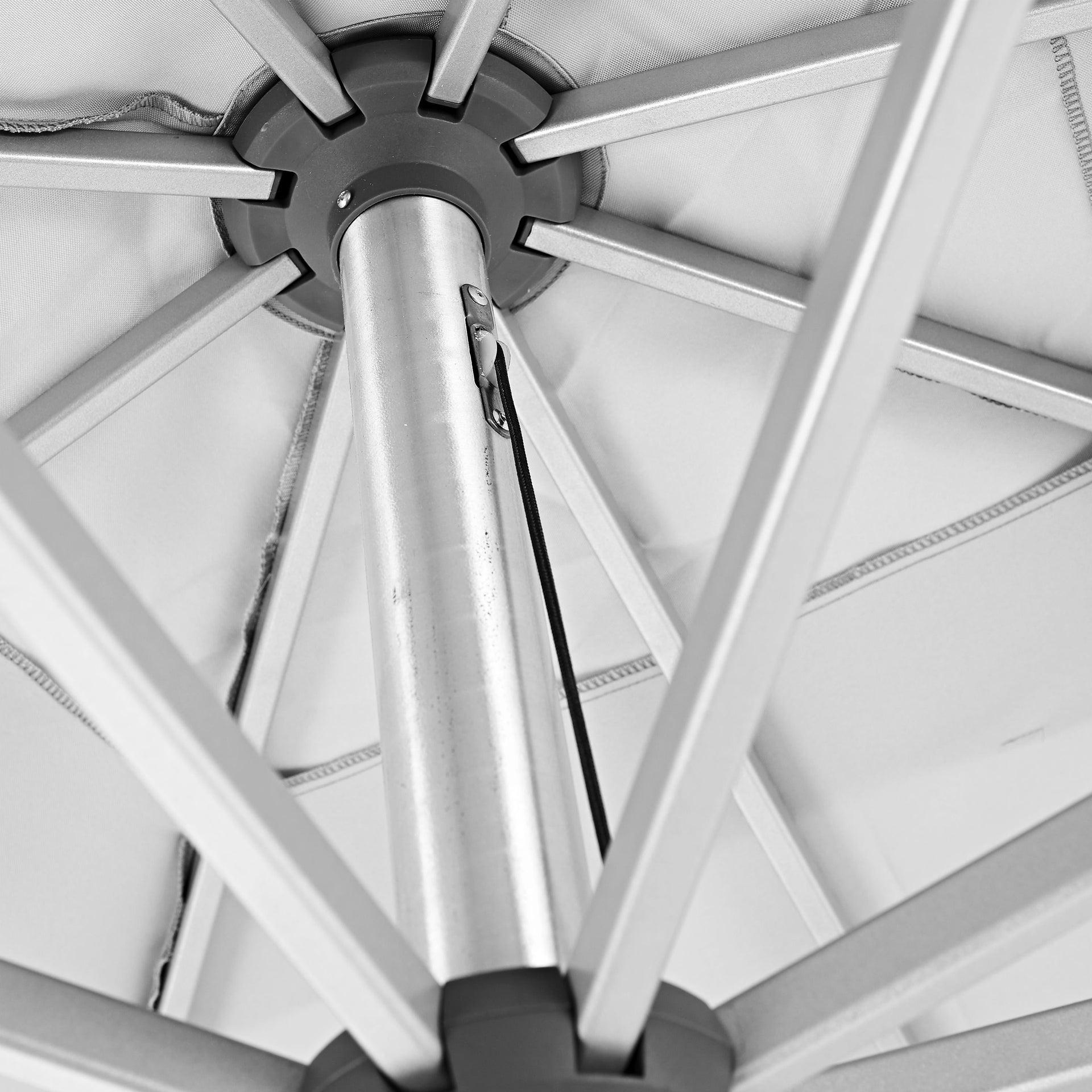 Ombrellone NATERIAL Aura L 2.85 x P 2.85 m color bianco - 5