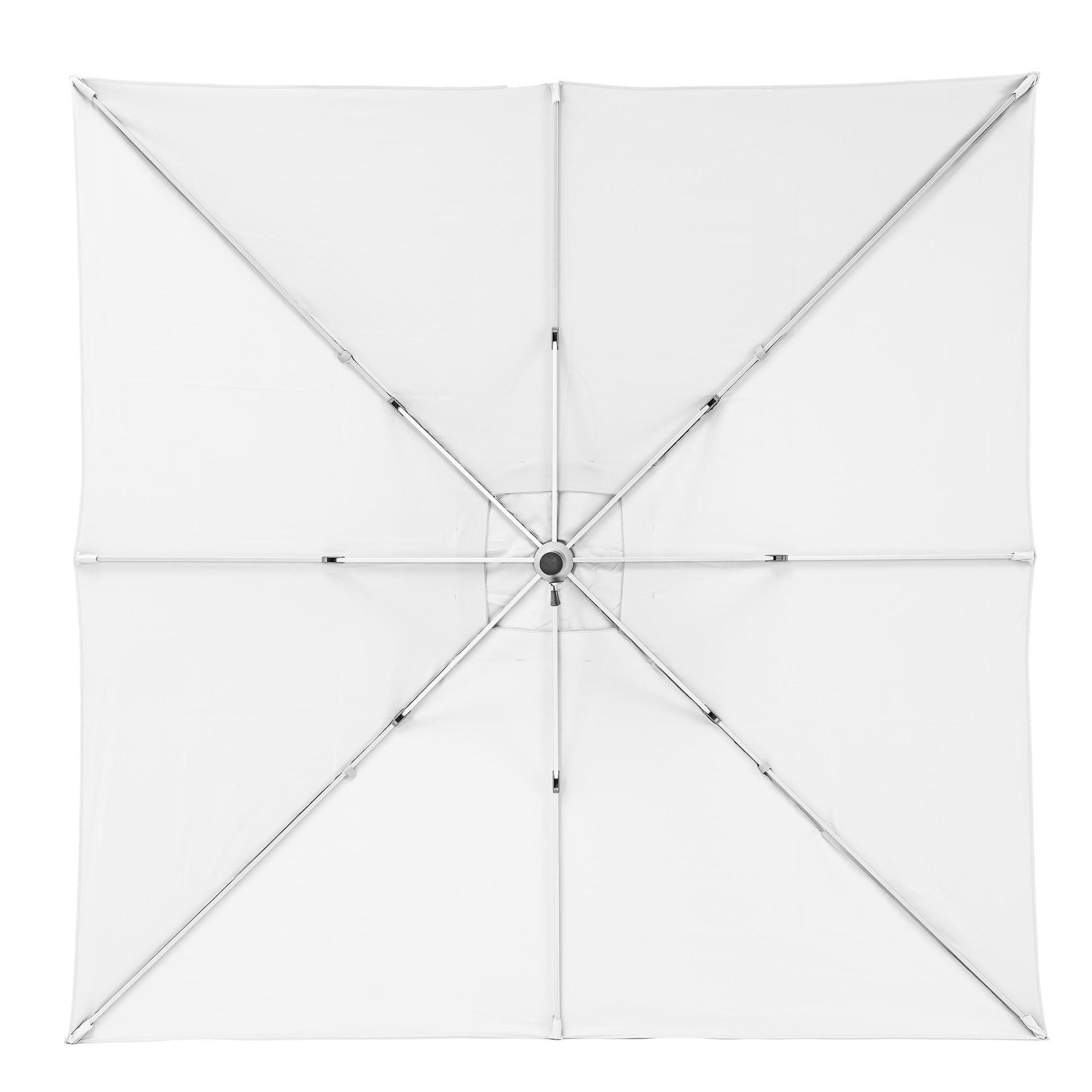 Ombrellone NATERIAL Aura L 2.85 x P 2.85 m color bianco - 6