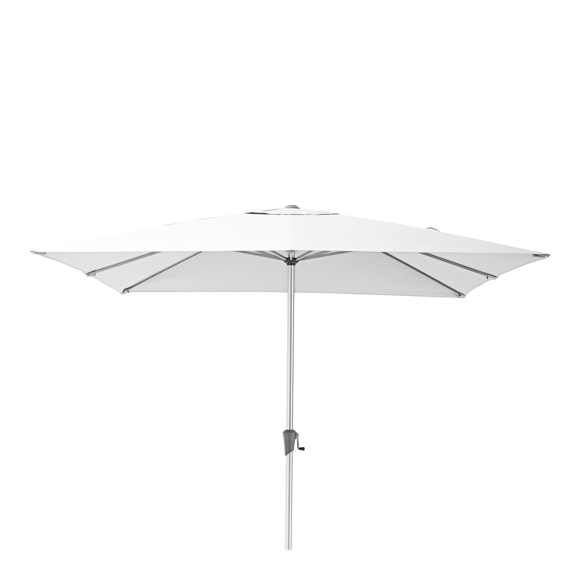 Ombrellone NATERIAL Aura L 2.85 x P 2.85 m color bianco - 1