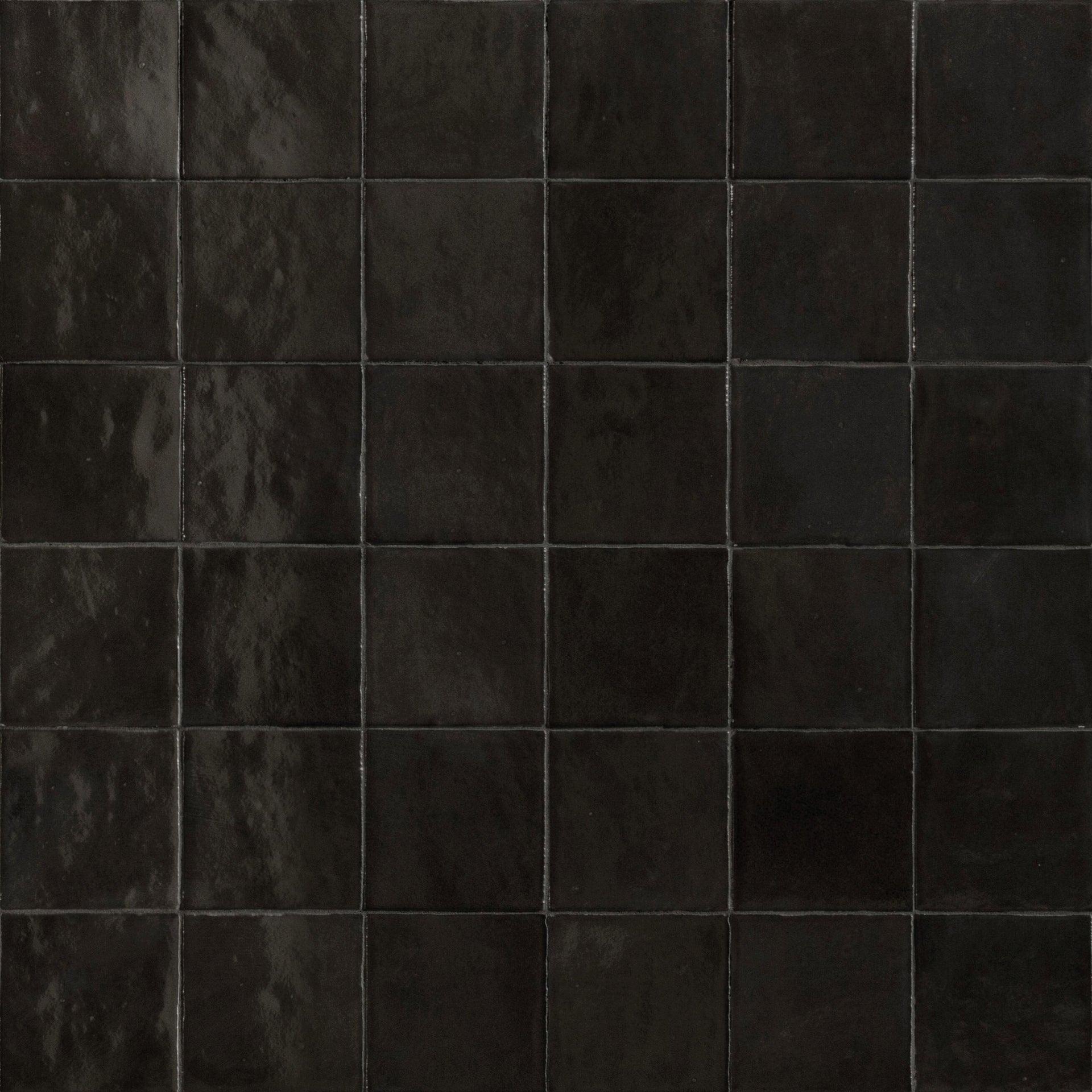 Piastrella per rivestimenti Zelli 10 x 10 cm sp. 10 mm nero - 2