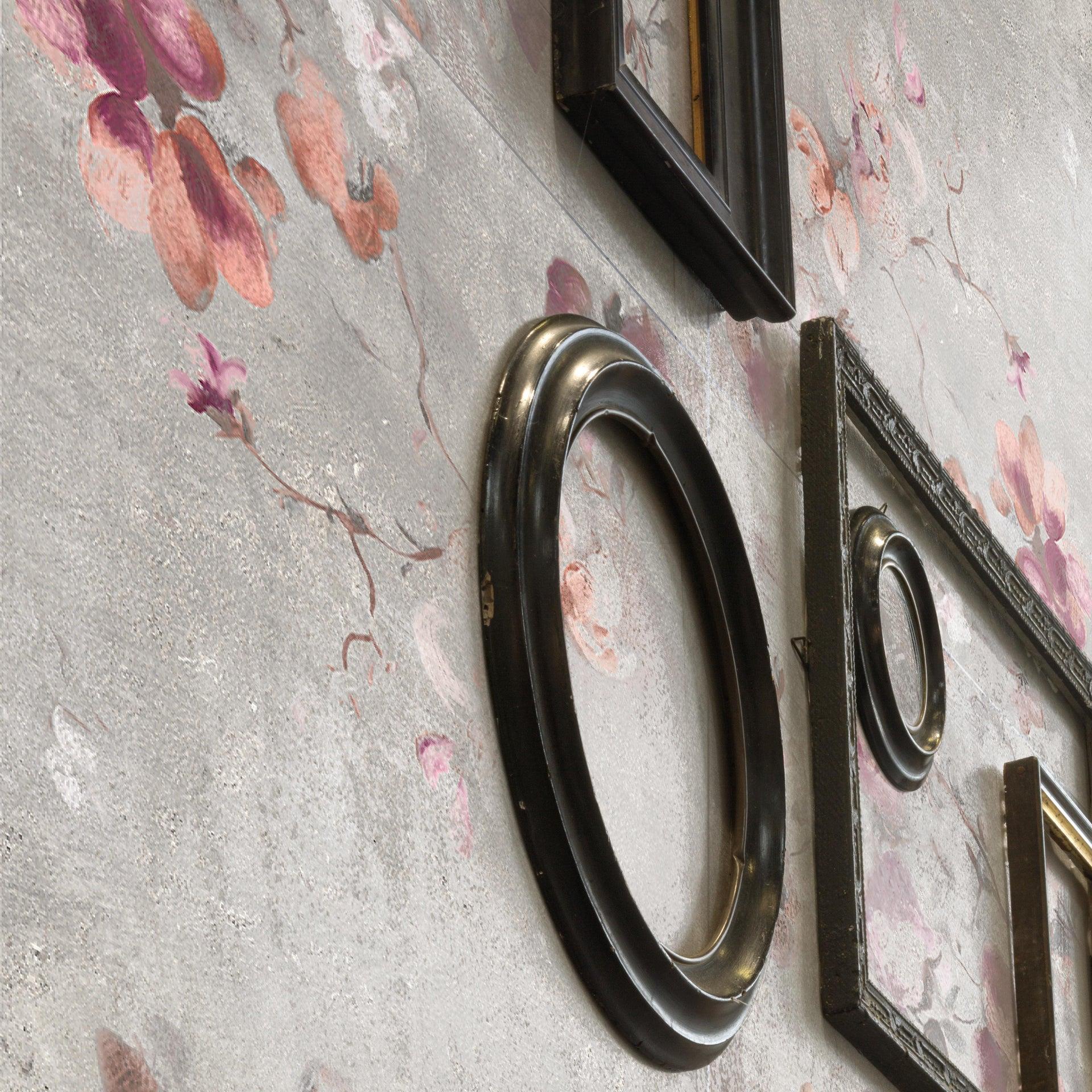 Piastrella City Grey Decoro Flower 60 x 120 cm sp. 9.5 mm PEI 4/5 grigio - 2