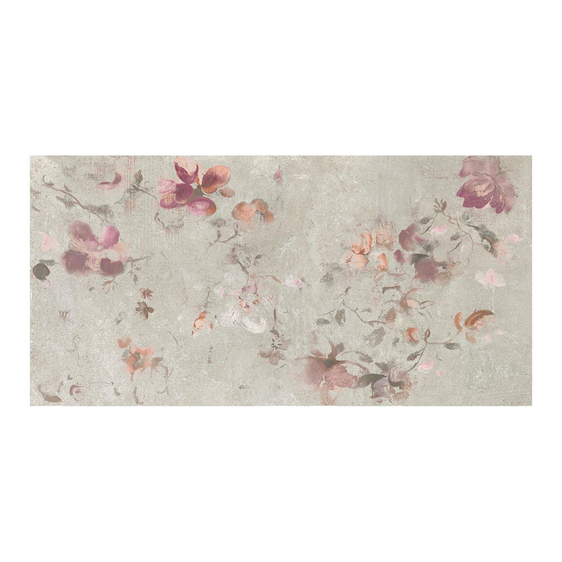 Piastrella City Grey Decoro Flower 60 x 120 cm sp. 9.5 mm PEI 4/5 grigio - 7