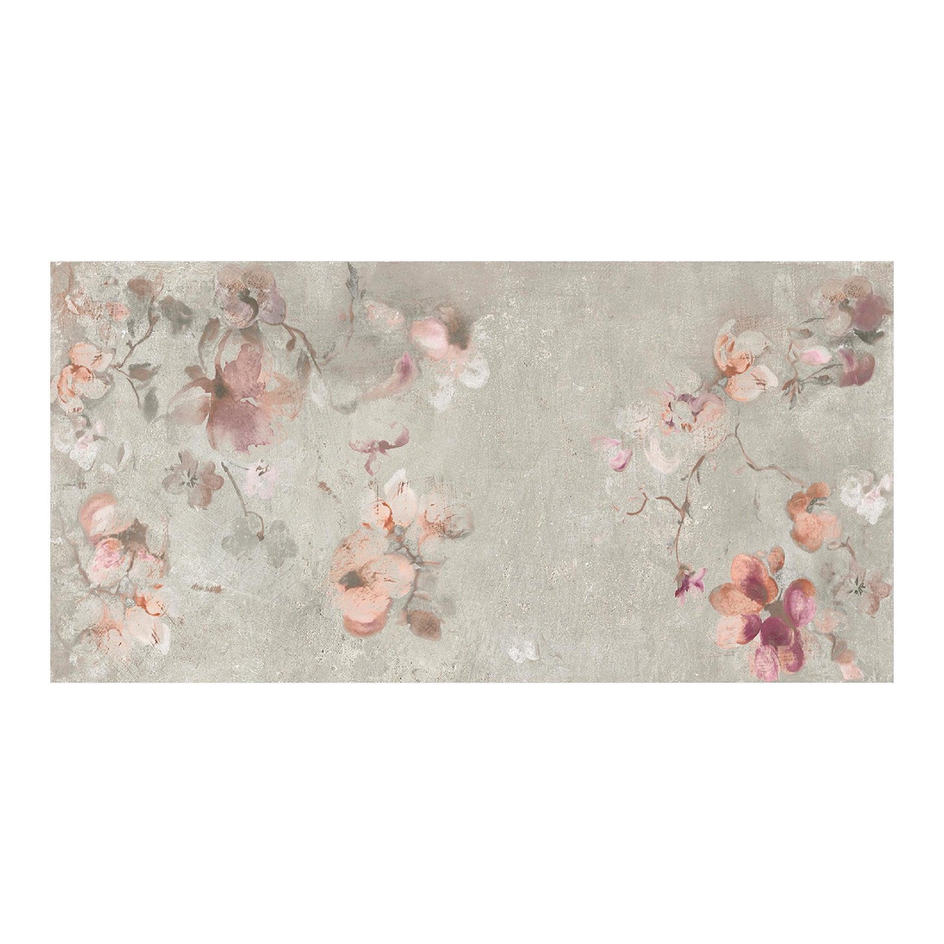Piastrella City Grey Decoro Flower 60 x 120 cm sp. 9.5 mm PEI 4/5 grigio - 5