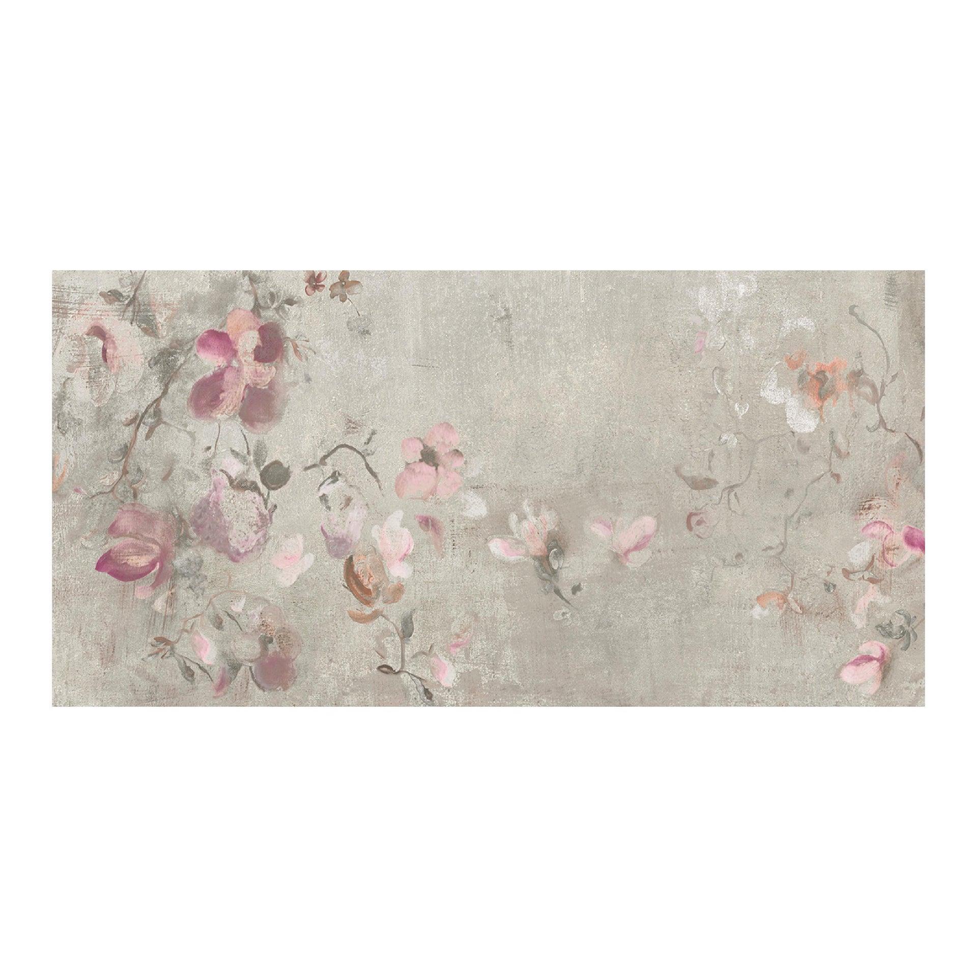 Piastrella City Grey Decoro Flower 60 x 120 cm sp. 9.5 mm PEI 4/5 grigio - 8