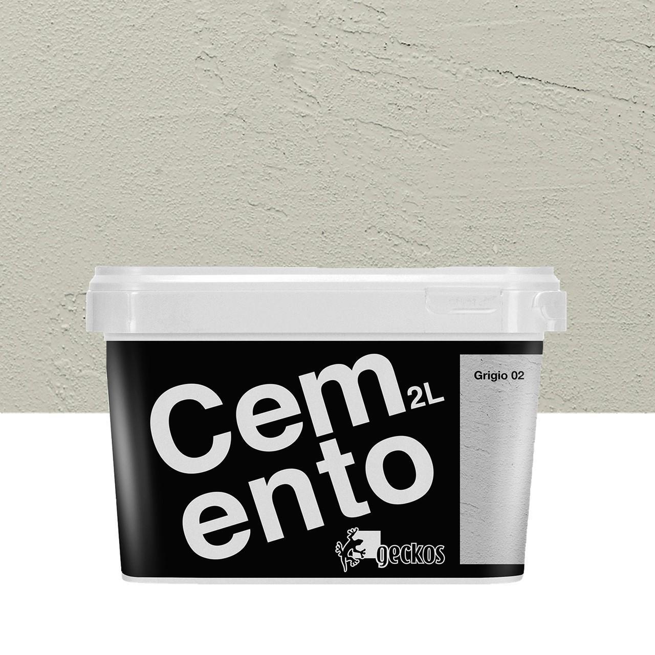 Pittura decorativa effetto cemento grigio 2 2 l GECKOS - 1