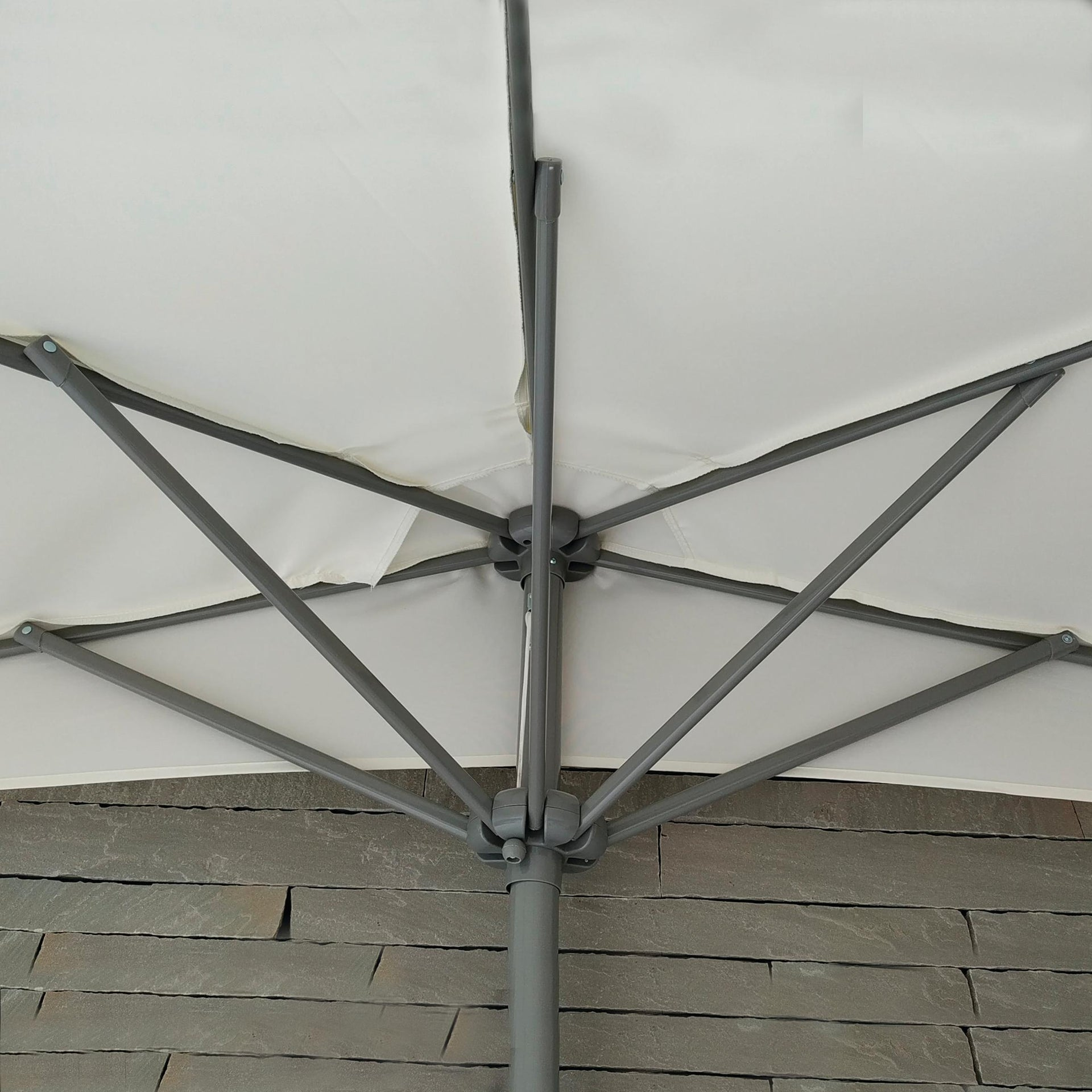 Ombrellone Taormina L 2.7 x P 1.35 m color ecru - 4