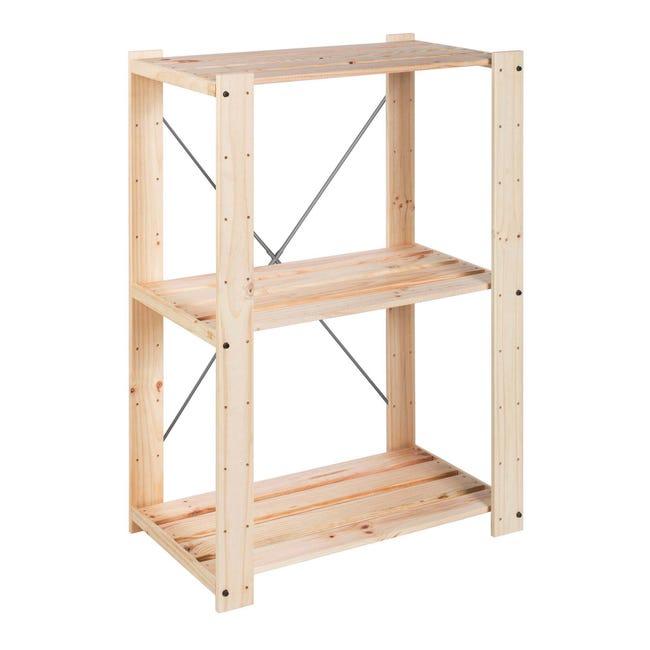 Scaffale in legno in kit Evolution L 76.7 x P 43 x H 111 cm naturale - 1