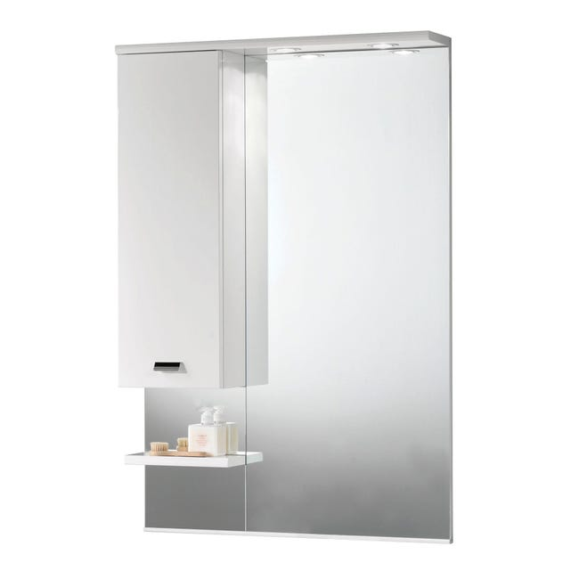 Specchio Con Illuminazione Integrata Bagno Rettangolare Rimini L 70 X H 108 Cm Leroy Merlin