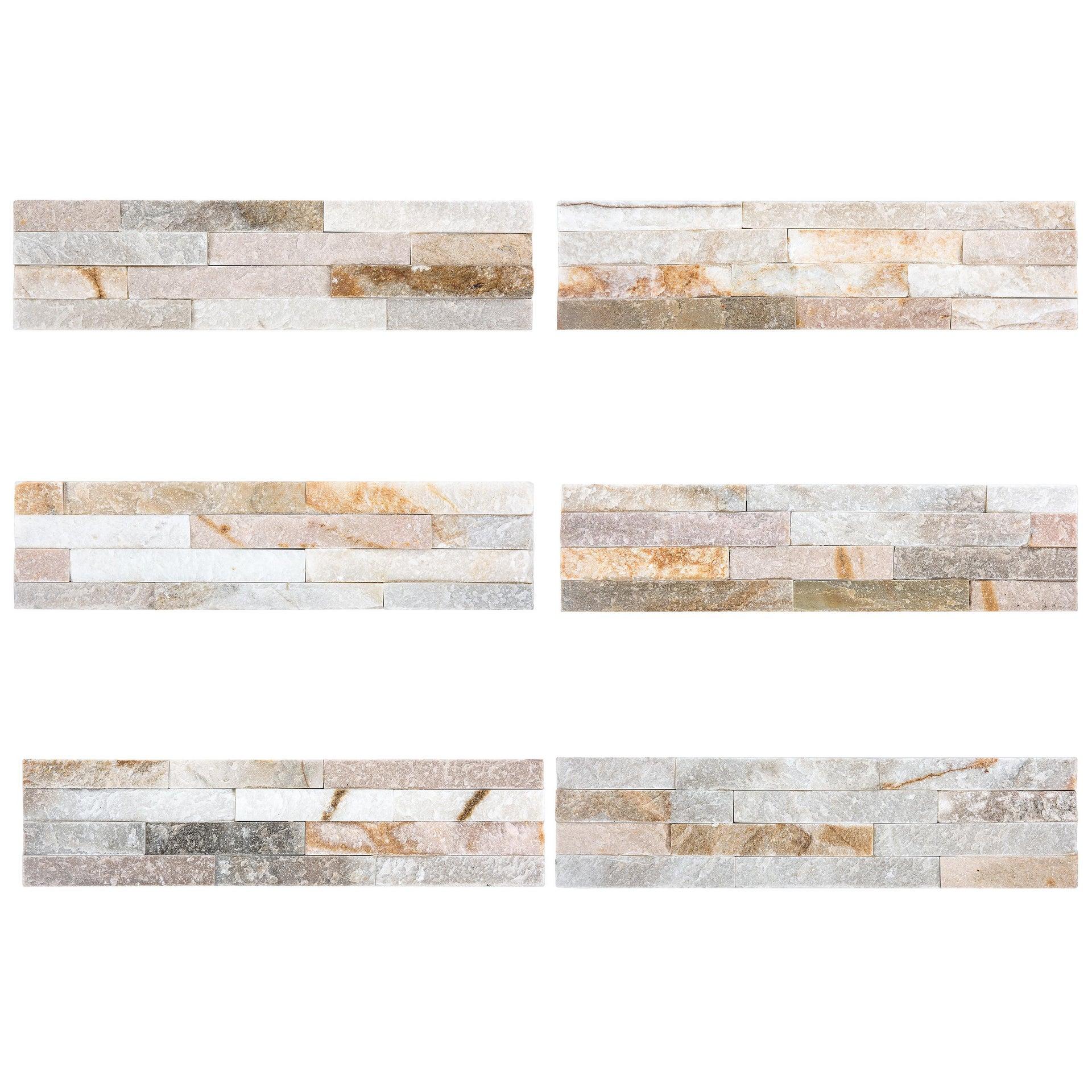 Rivestimento strutturato in pietra naturale Meru L 40 x L 10 cm, Sp 12 mm interno / esterno - 3