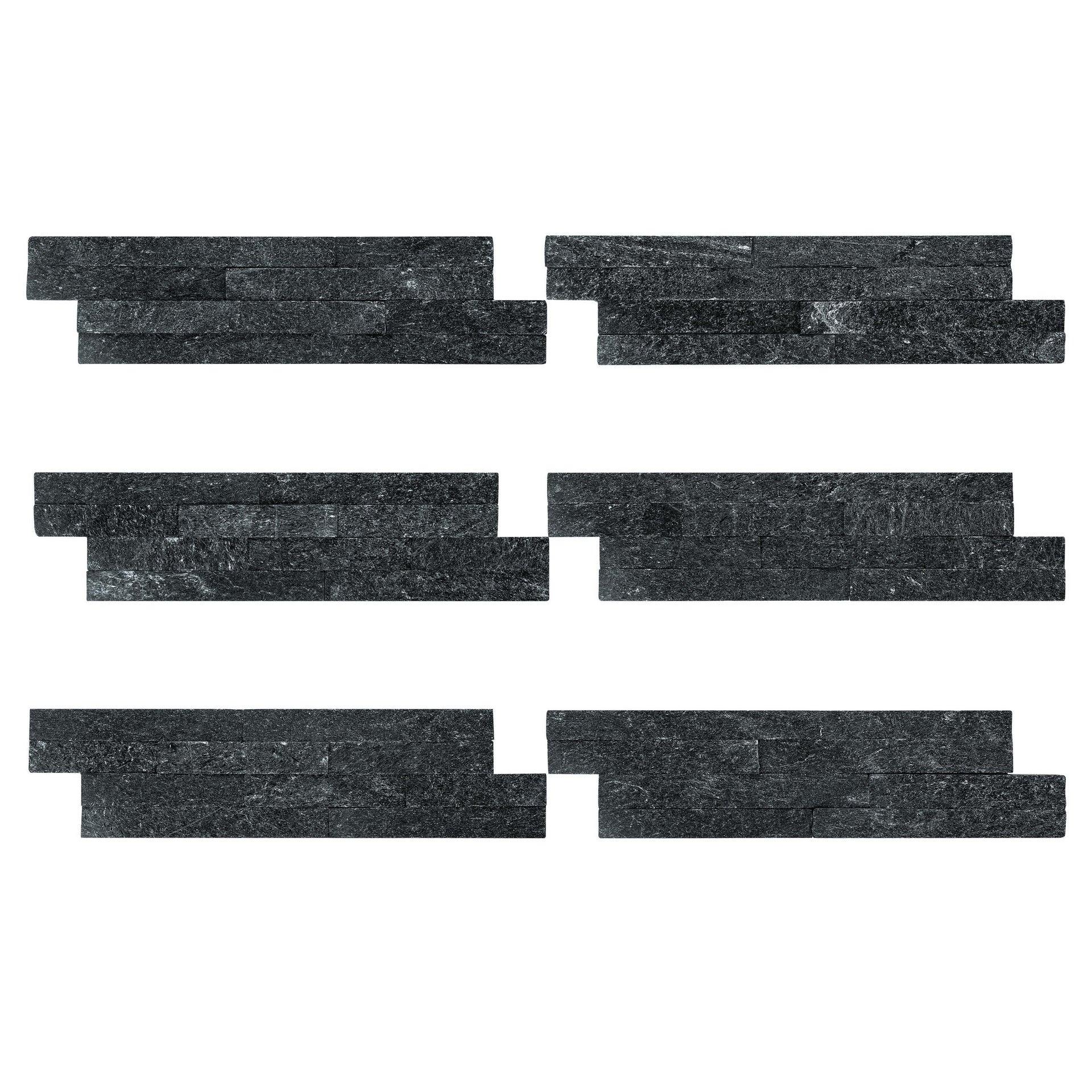 Rivestimenti strutturati Mikeno nero - 7