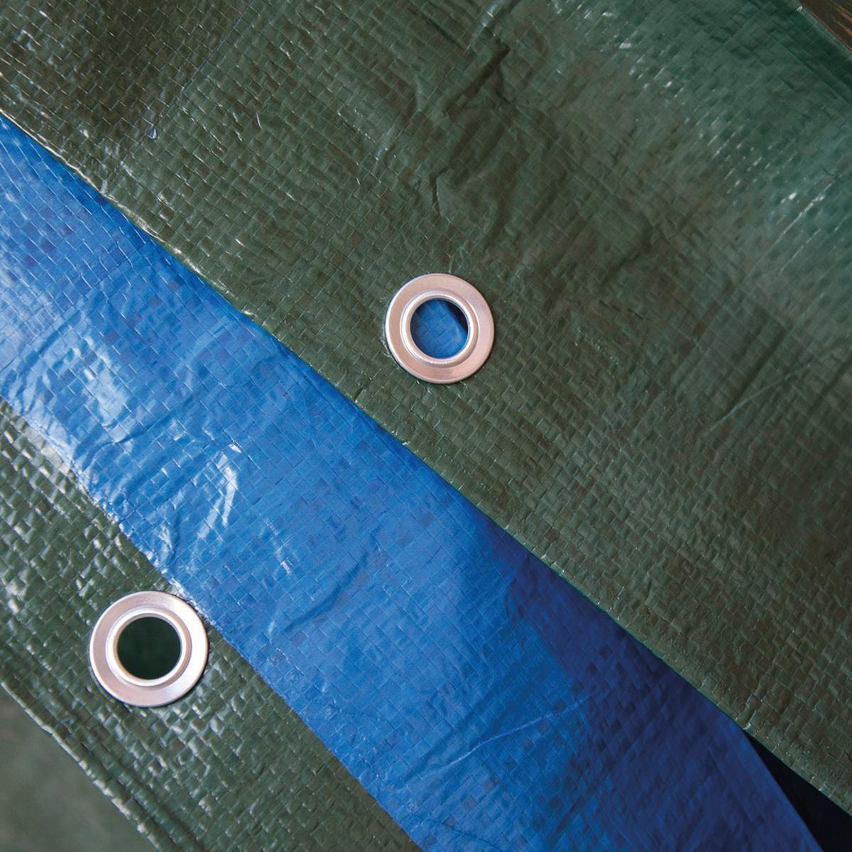 Telo protettivo in polietilene occhiellato L 2 m x H 300 cm 140 g/m² - 3