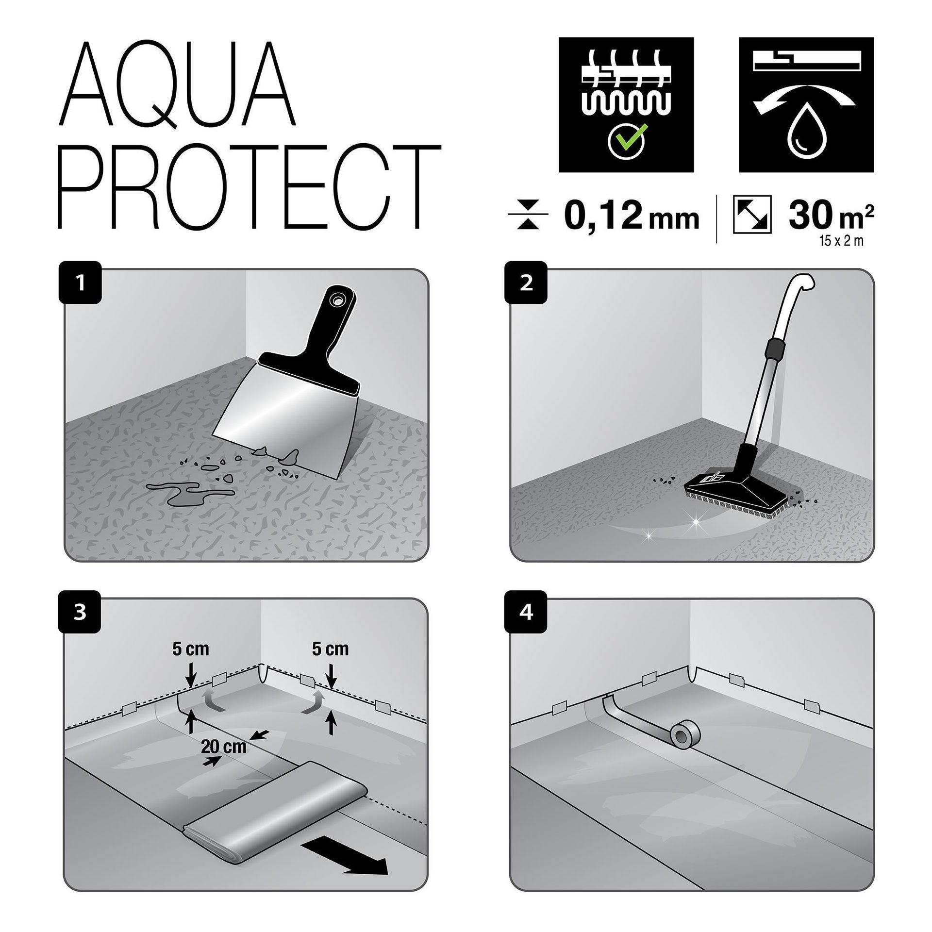Sottopavimento AXTON Aqua Protect Sp 0.2 mm - 14