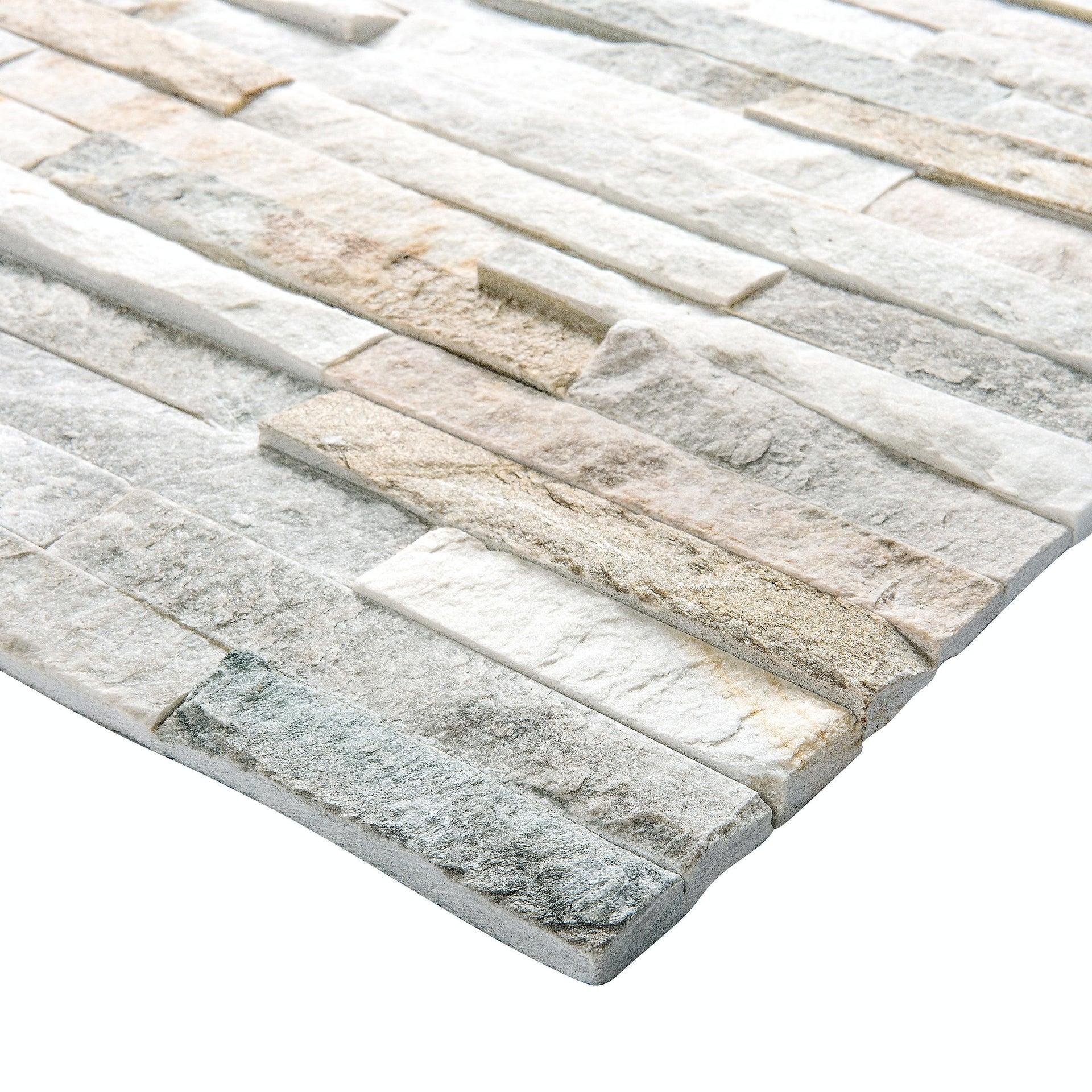 Rivestimento strutturato in pietra naturale Meru L 40 x L 10 cm, Sp 12 mm interno / esterno - 2