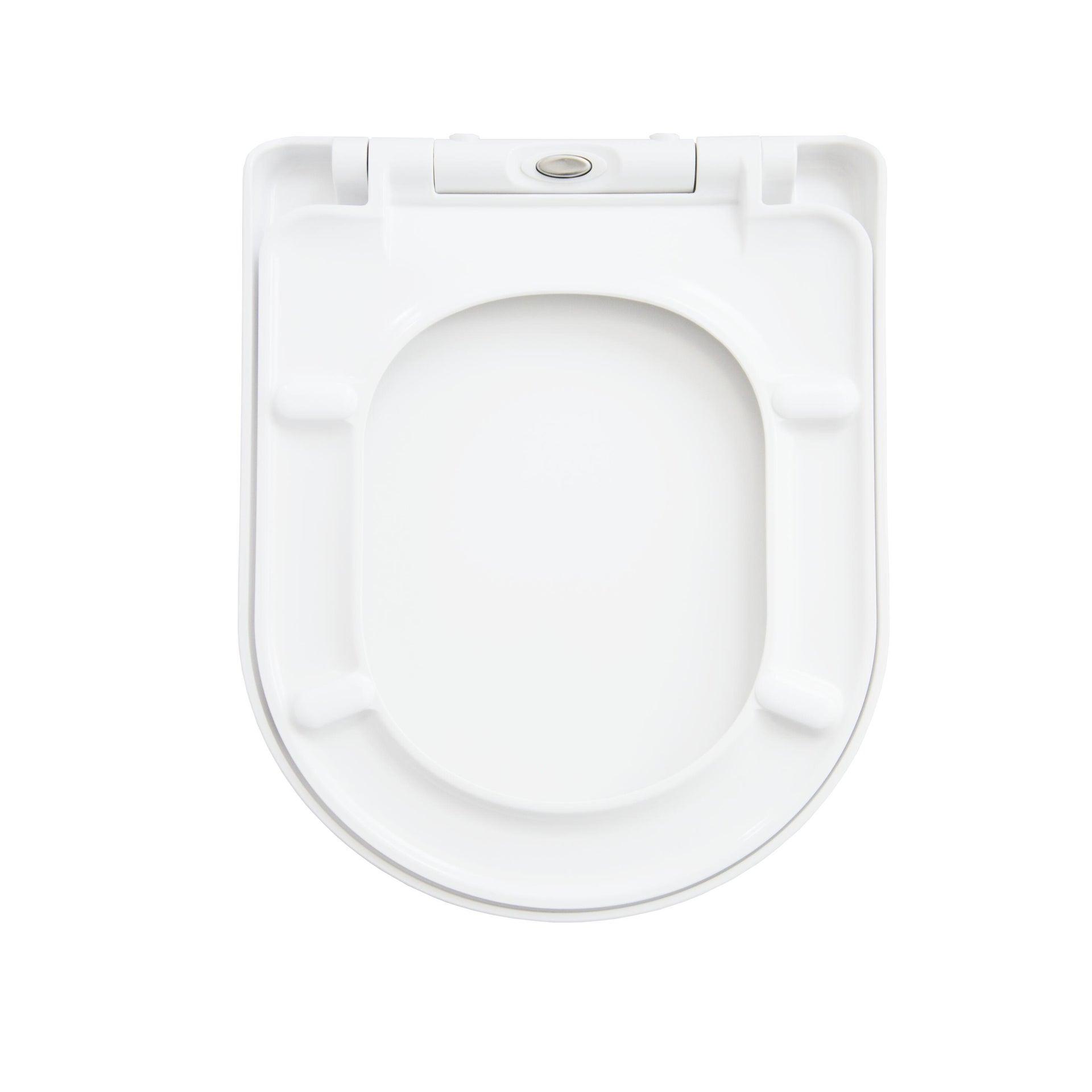 Copriwater rettangolare Universale Remix SENSEA duroplast bianco - 5