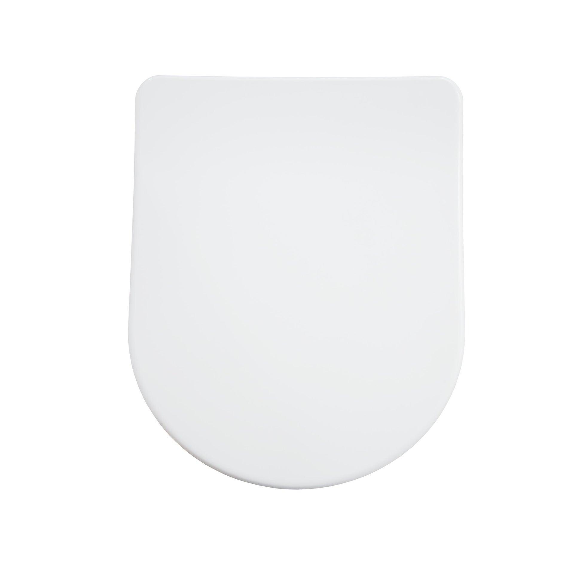 Copriwater rettangolare Universale Remix SENSEA duroplast bianco - 1