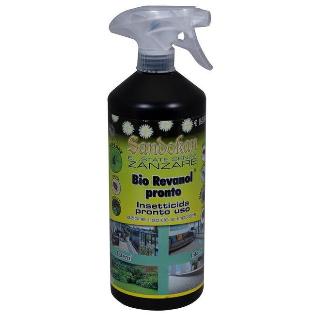 Repellente liquido per zanzare, cimice, calabroni, scarafaggi, formiche SANDOKAN Bio Revanol Pronto 1000 ml - 1