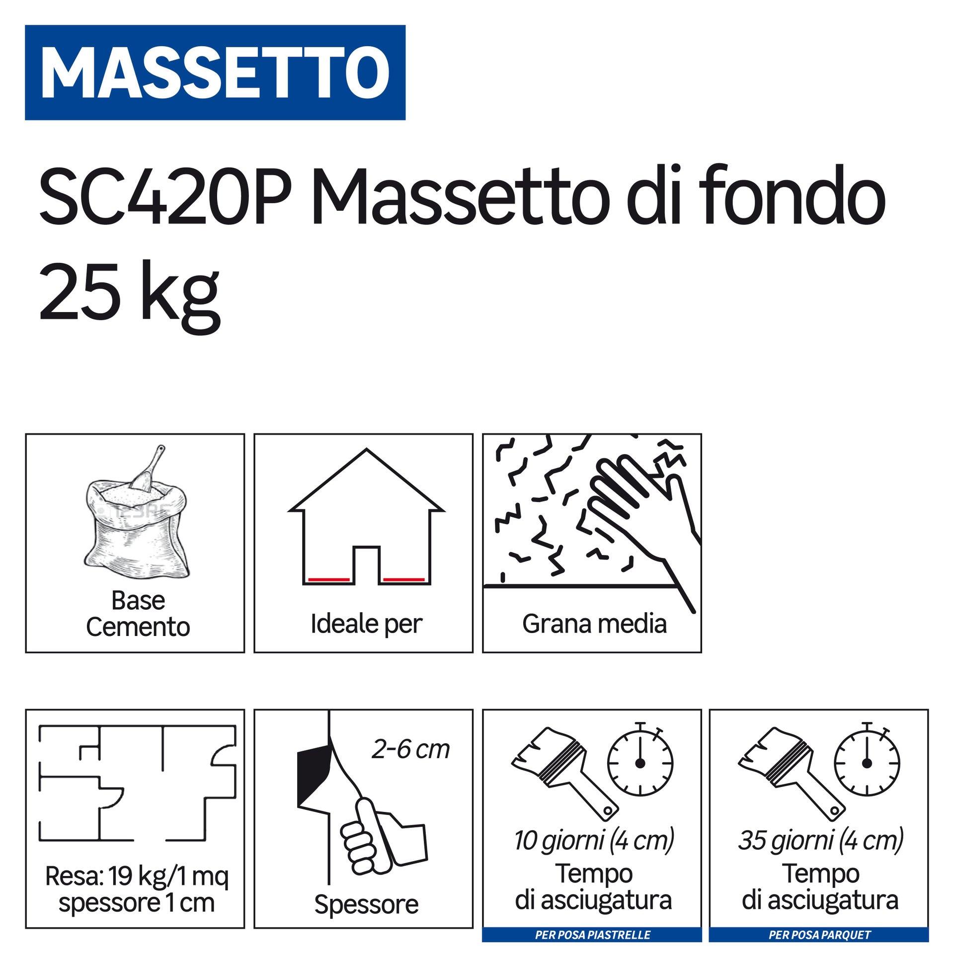 Massetto FASSA BORTOLO SC420 25 kg - 2