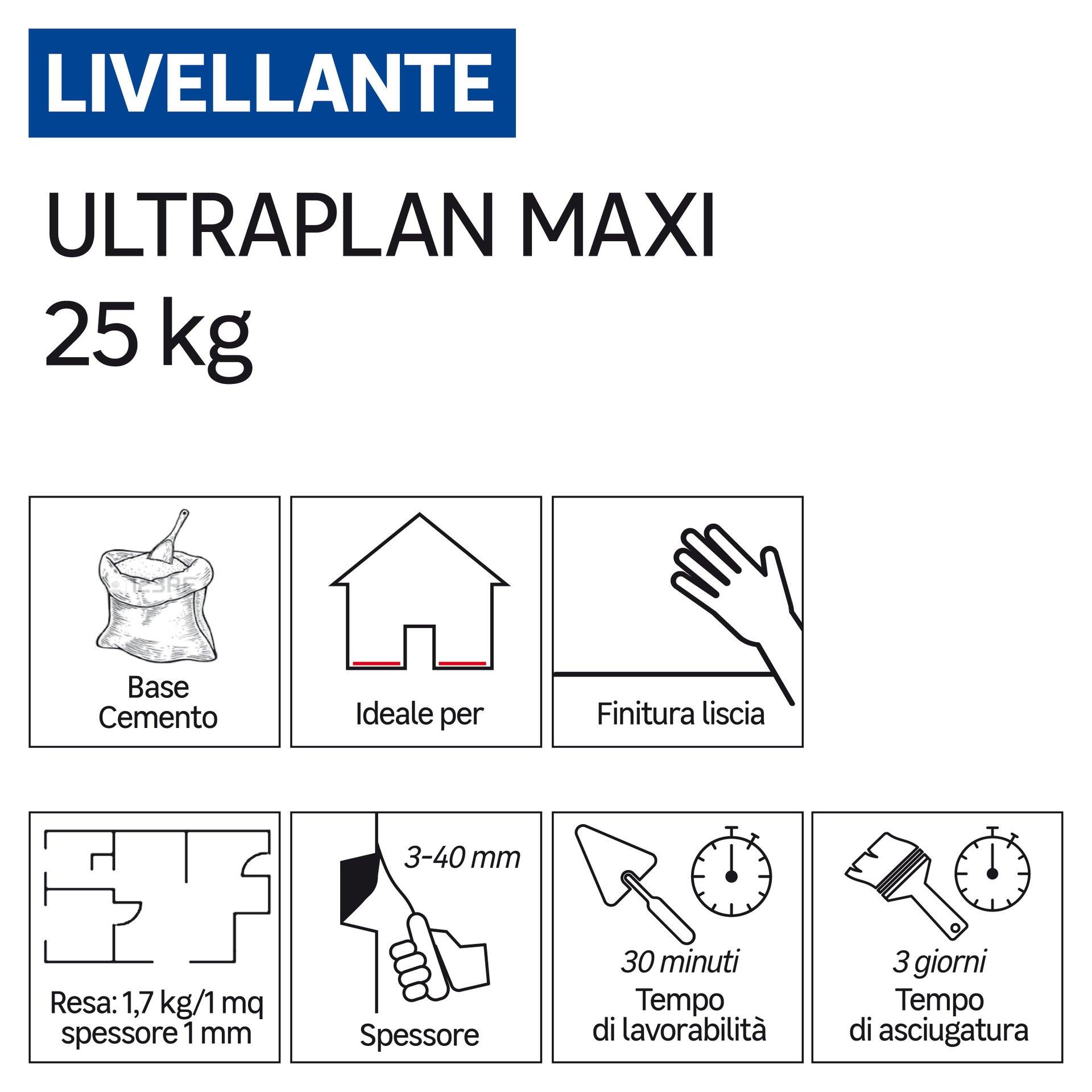 Malta autolivellante MAPEI Ultraplan Maxi 25 kg - 2