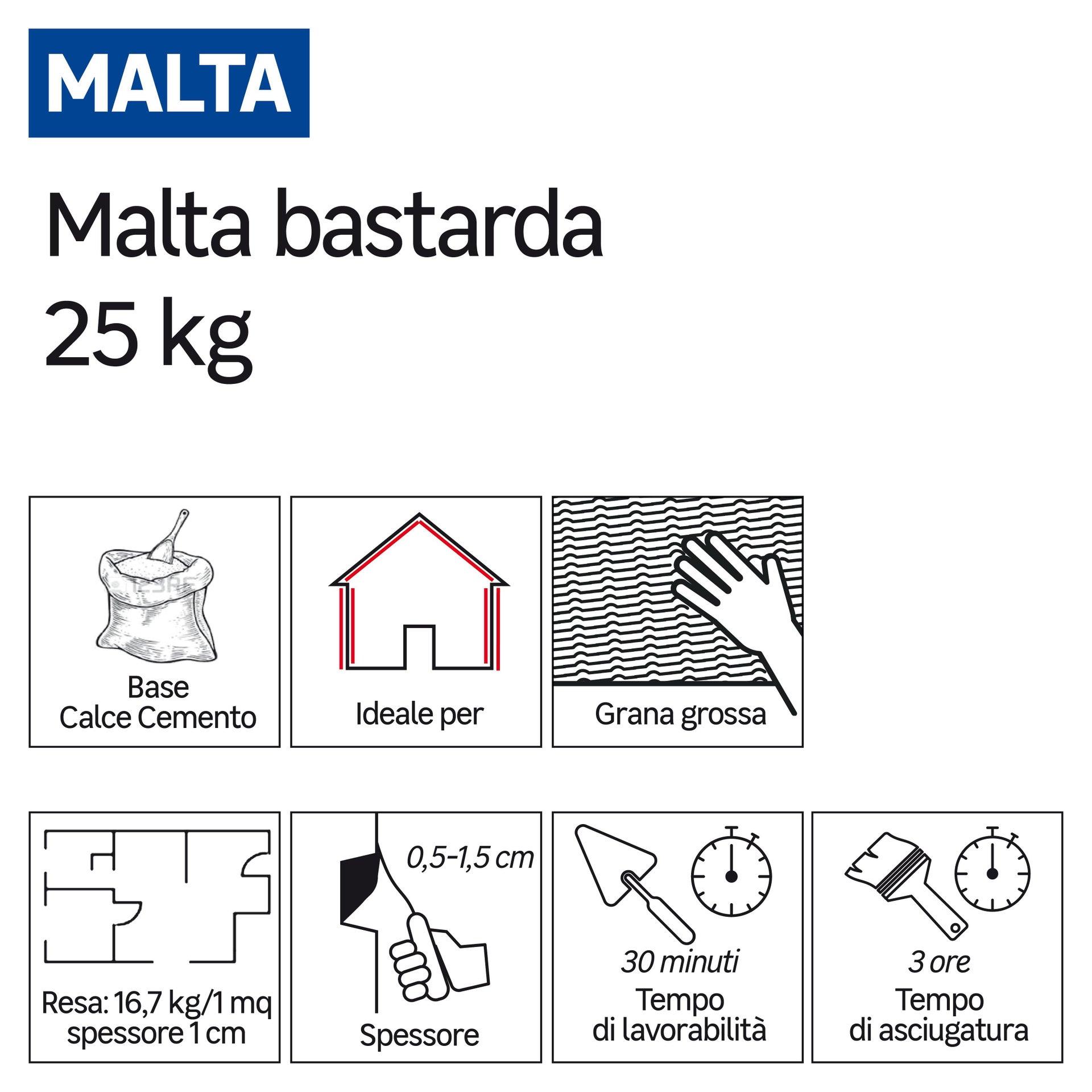 Malta bastarda GRAS CALCE 25 kg - 2