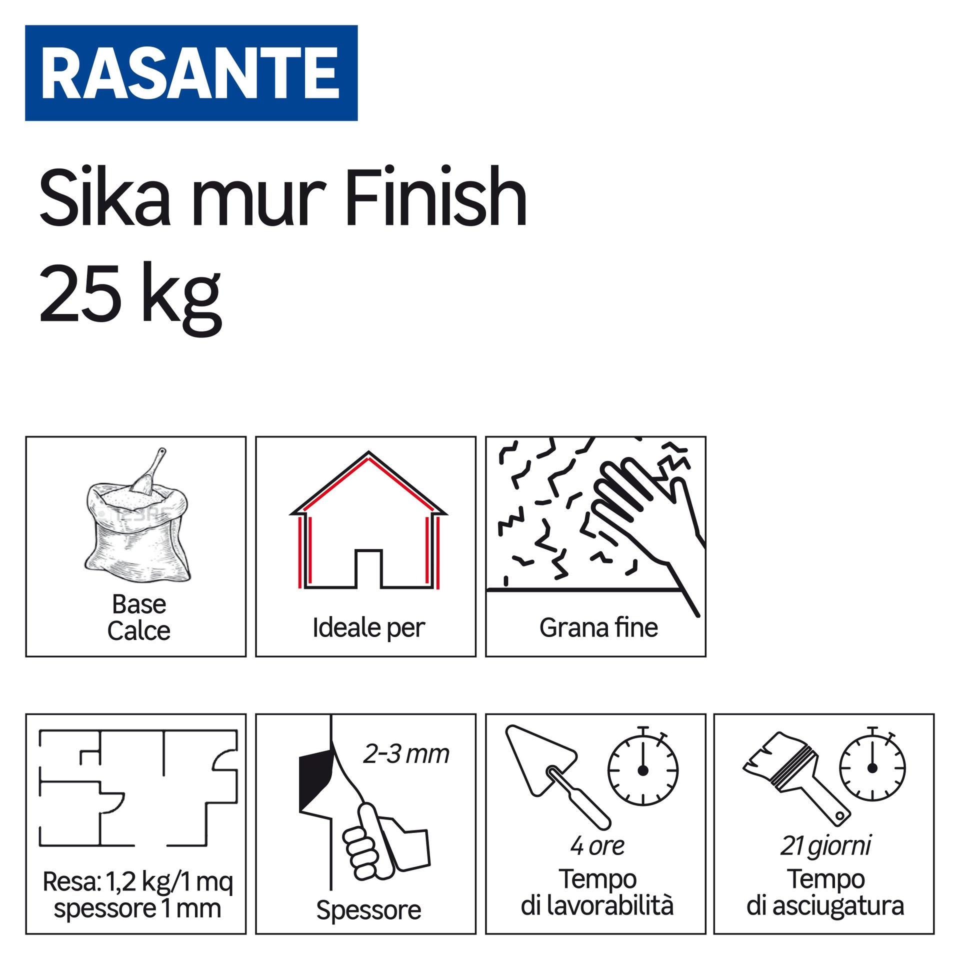 Rasatura SIKA Mur Finish 25 kg - 3