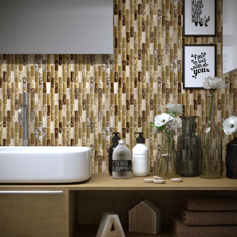 Mosaico H 30 x L 30 cm beige - 1