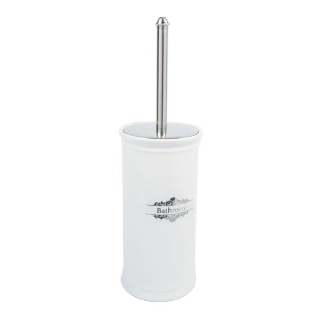 Porta scopino wc da appoggio Vittoria in porcellana bianco - 1