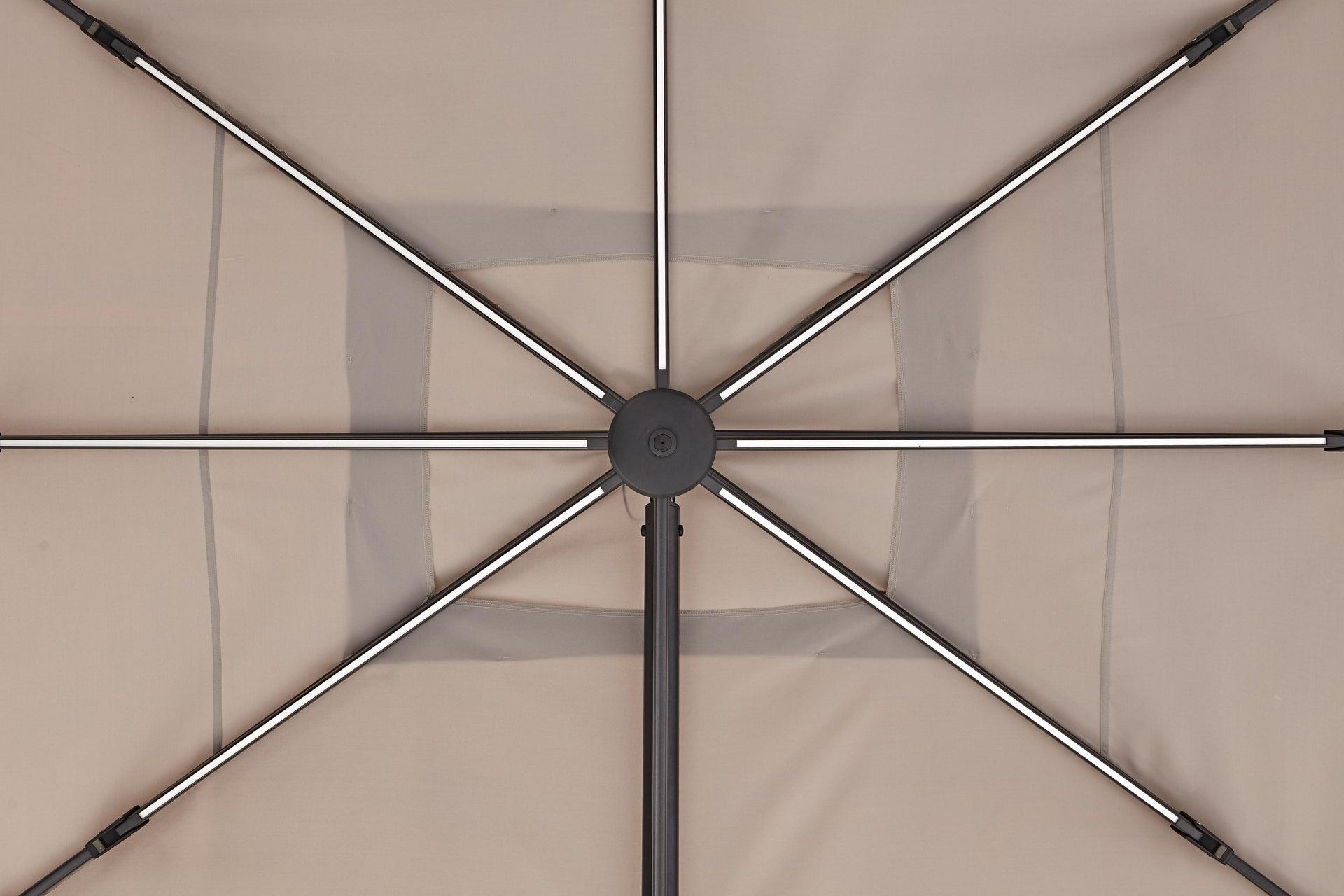 Ombrellone NATERIAL Sonora L 2.82 x P 3.91 m color tortora - 3