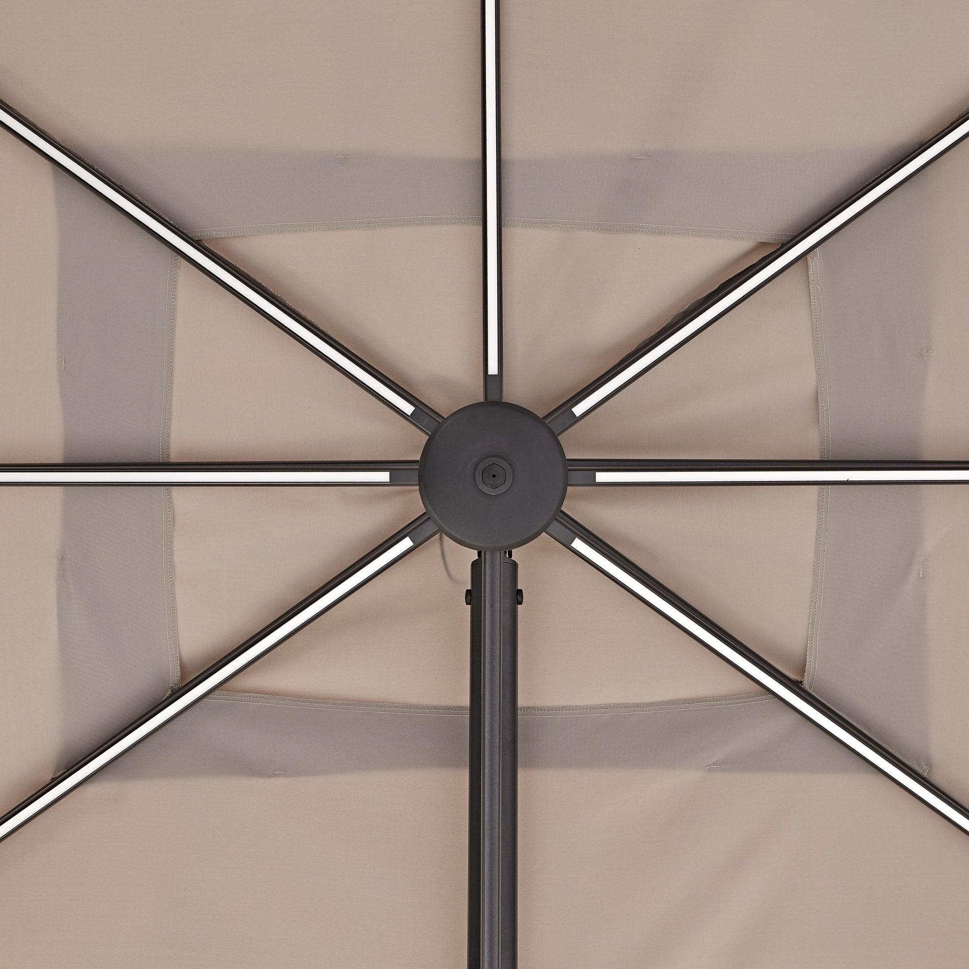 Ombrellone NATERIAL Sonora L 2.82 x P 3.91 m color tortora - 21