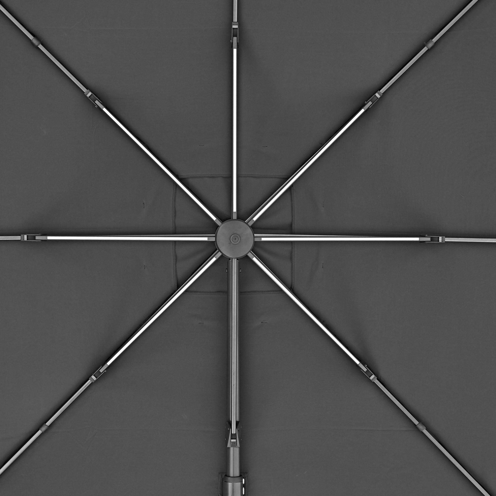 Ombrellone NATERIAL Sonora L 2.82 x P 3.91 m color grigio - 18