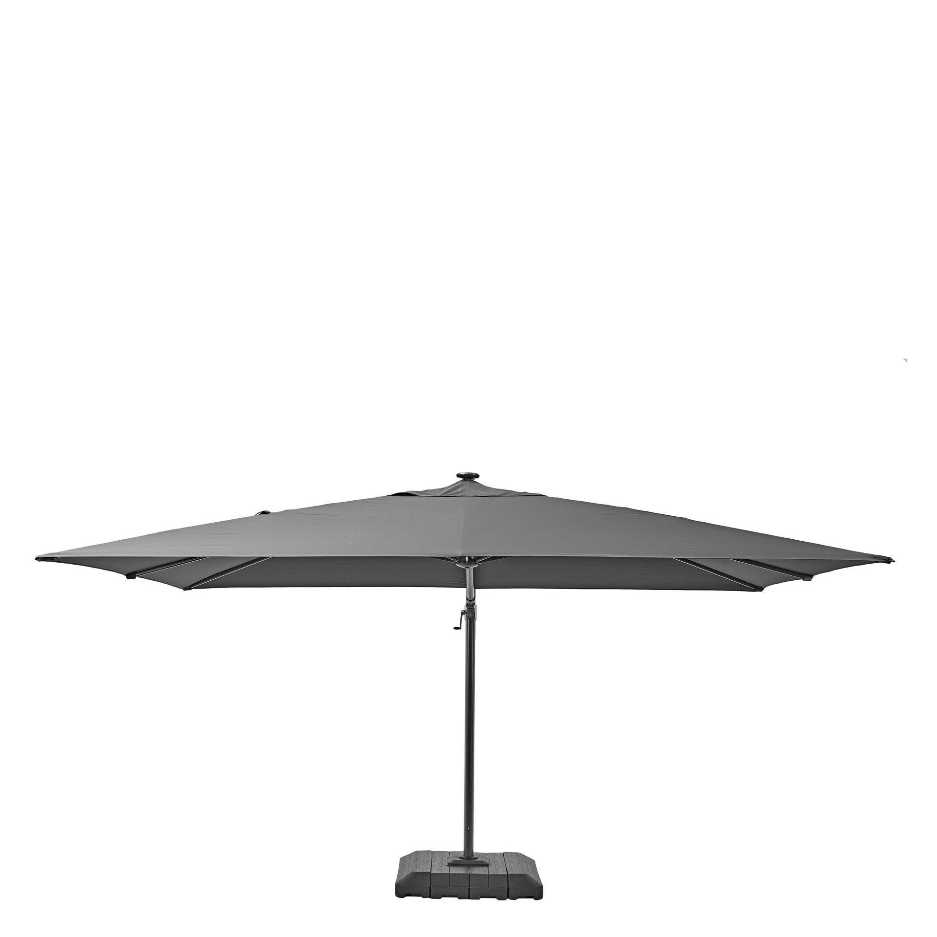 Ombrellone NATERIAL Sonora L 2.82 x P 3.91 m color grigio - 35