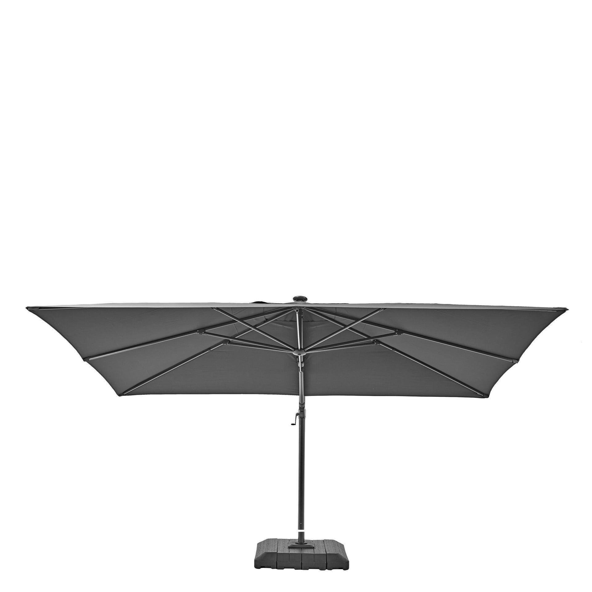 Ombrellone NATERIAL Sonora L 2.82 x P 3.91 m color grigio - 22