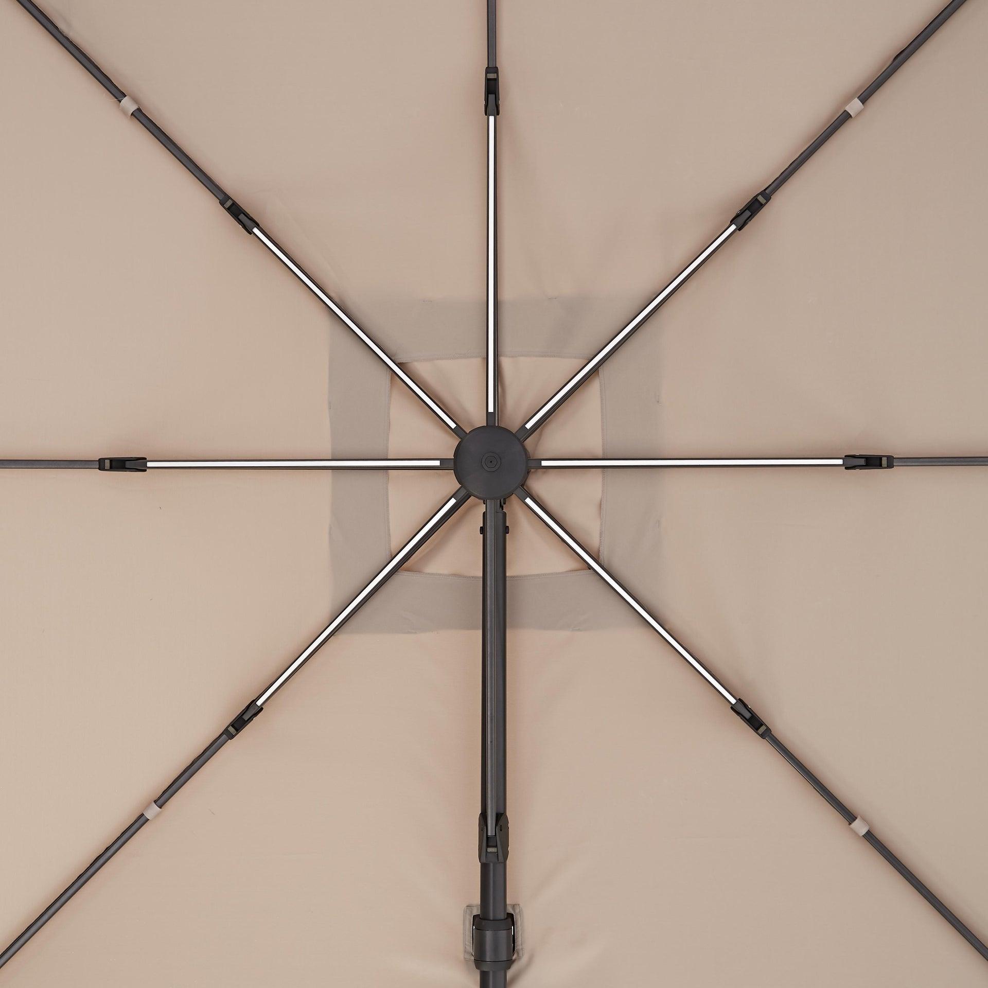 Ombrellone NATERIAL Sonora L 2.88 x P 2.88 m color tortora - 24