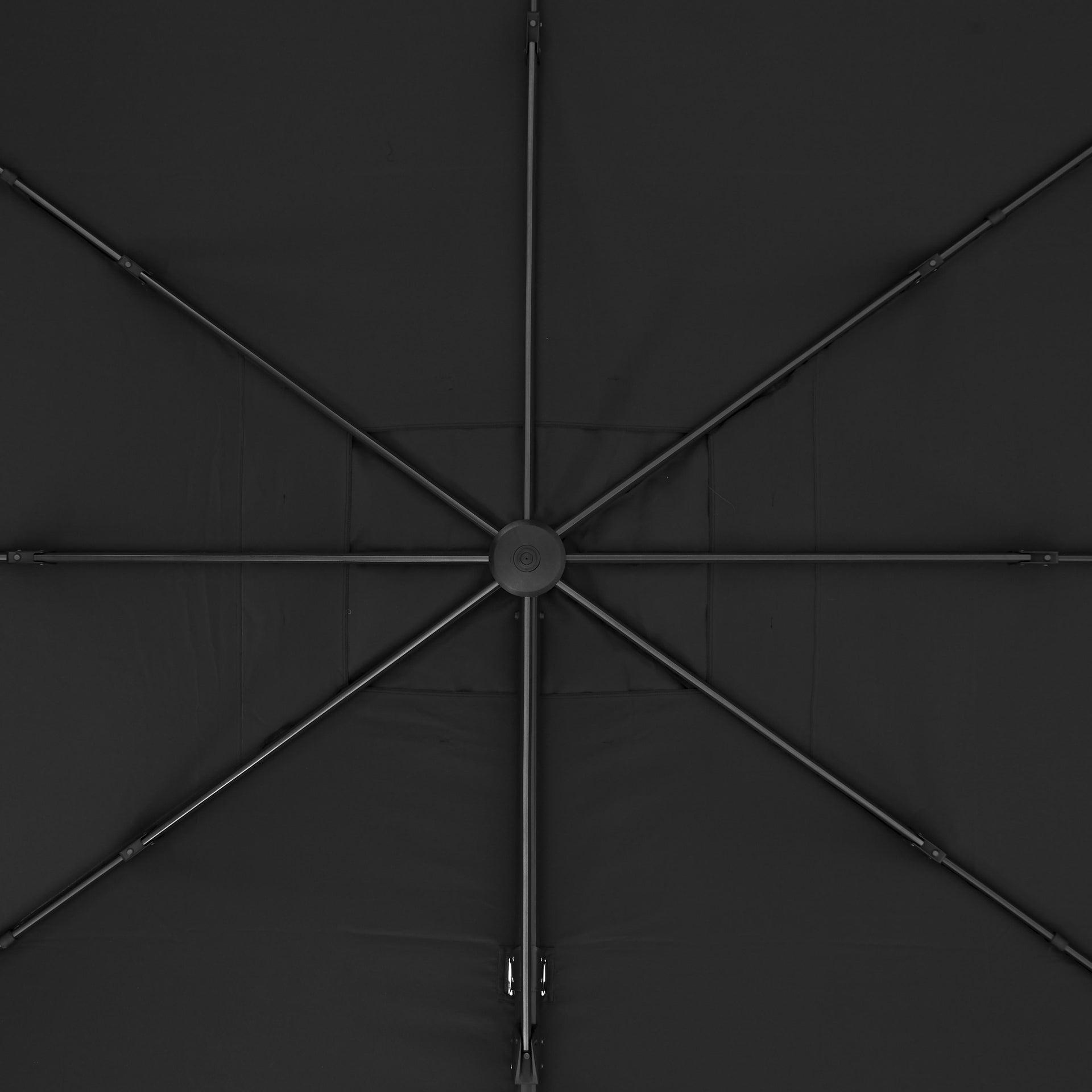 Ombrellone NATERIAL Aura L 2.81 x P 3.86 m color grigio - 3