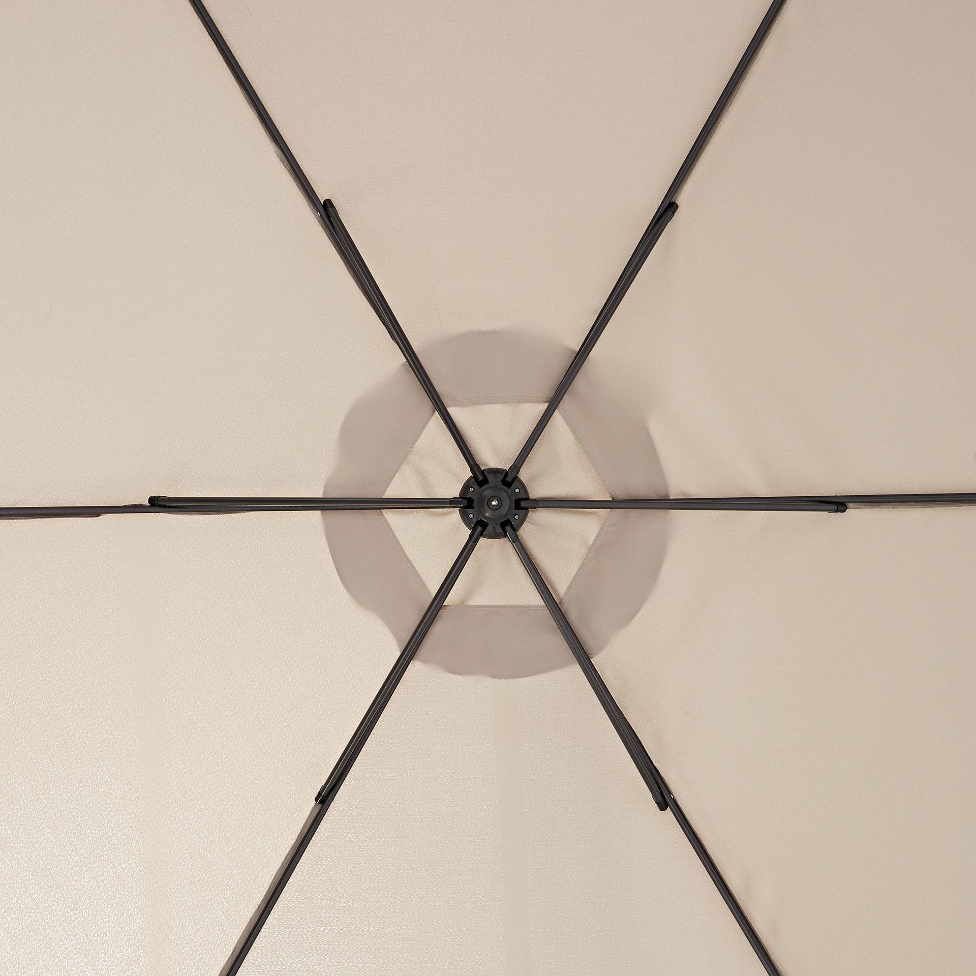 Ombrellone Polar L 2.9 x P 2.9 m color tortora - 7