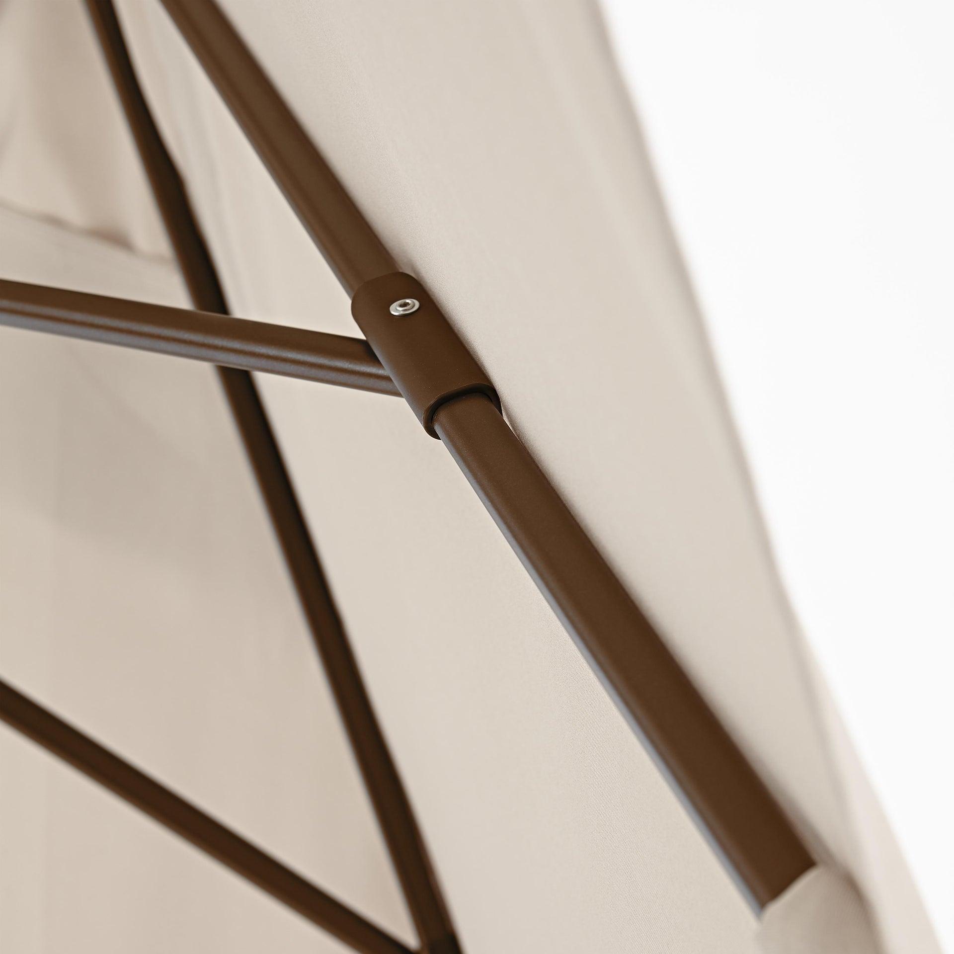 Ombrellone Polar L 1.94 x P 3 m color tortora - 6