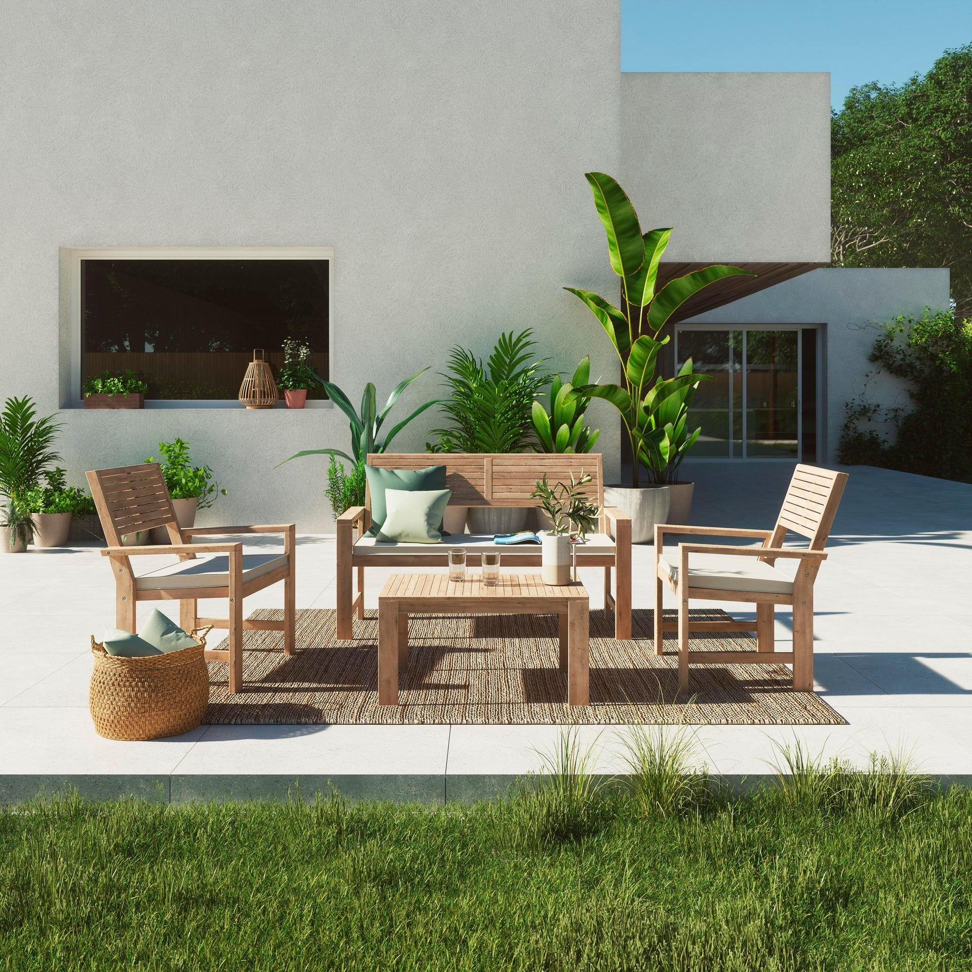 Coffee set rivestito in legno NATERIAL Solis per 4 persone - 17
