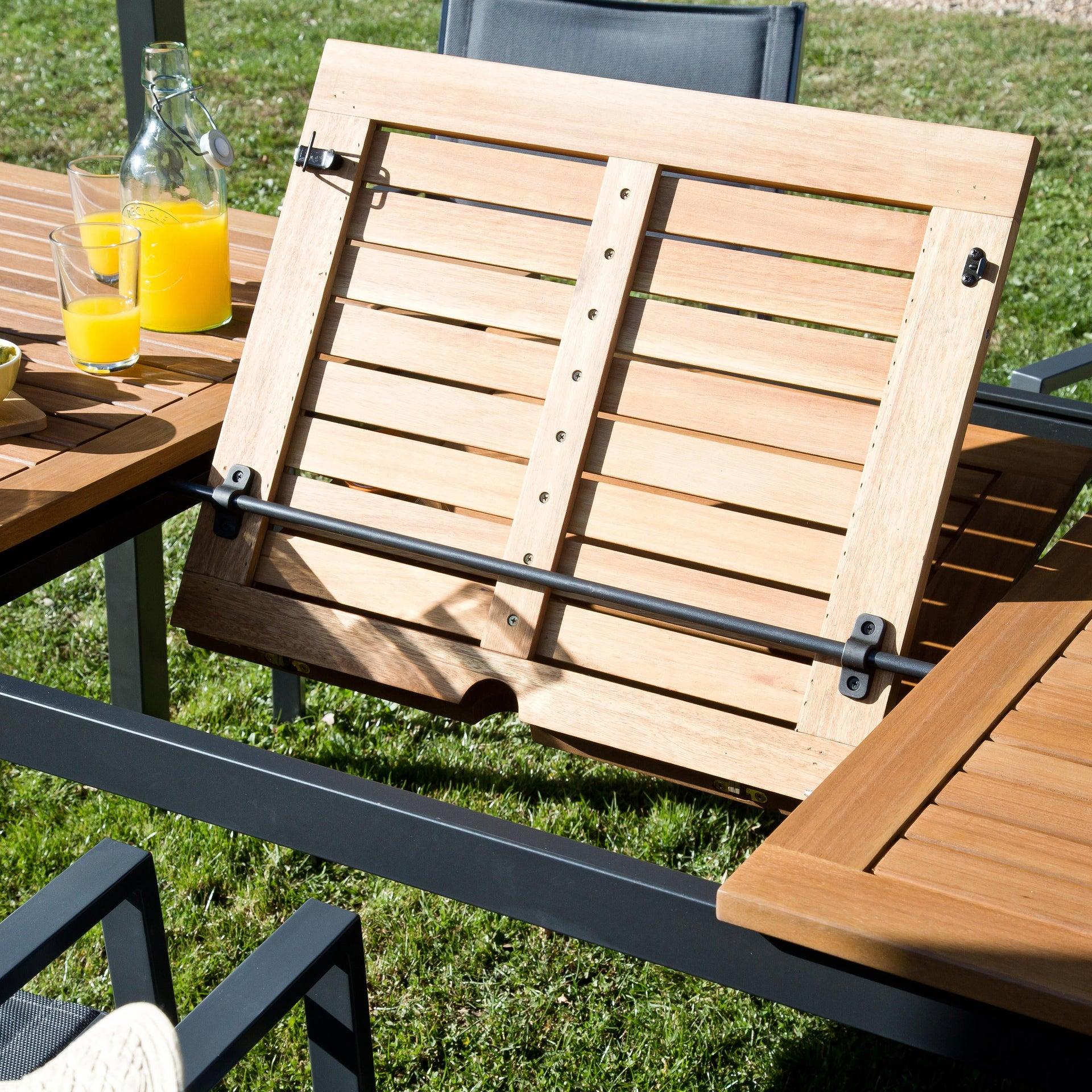 Tavolo da giardino allungabile rettangolare Oris NATERIAL con piano in legno L 180/240 x P 98.9 cm - 14