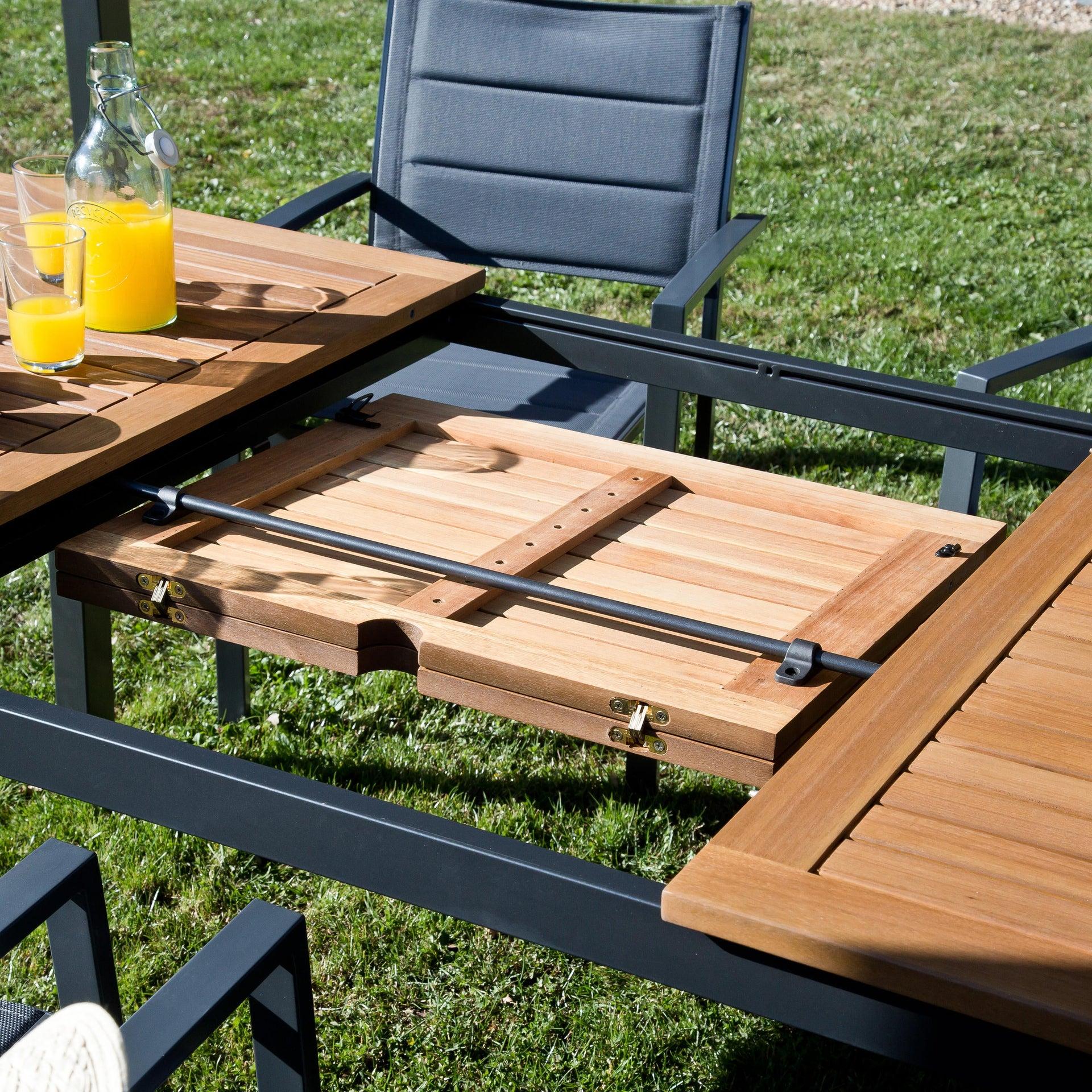 Tavolo da giardino allungabile rettangolare Oris NATERIAL con piano in legno L 180/240 x P 98.9 cm - 12