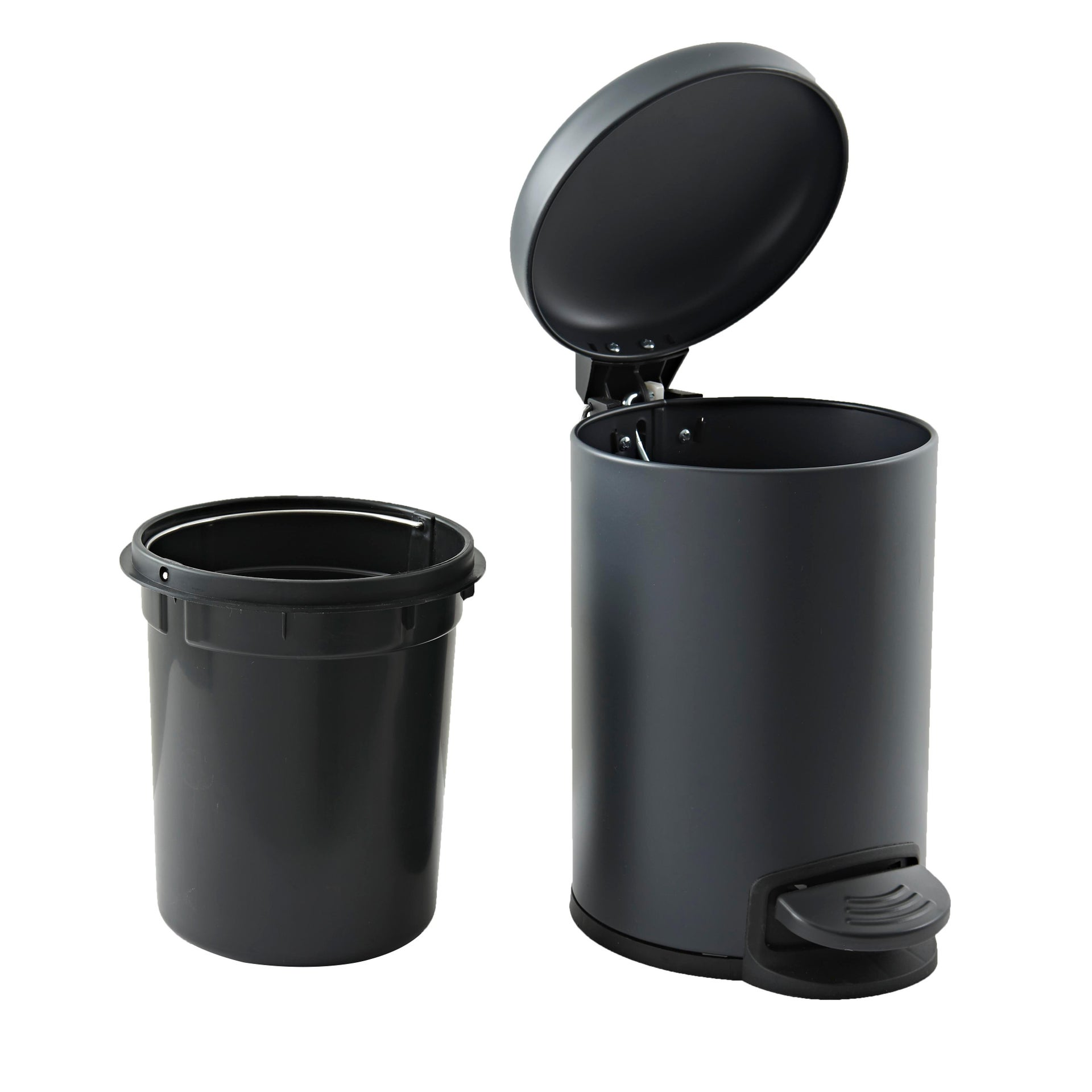 Pattumiera da bagno a pedale SENSEA 3 Lin acciaio - 4