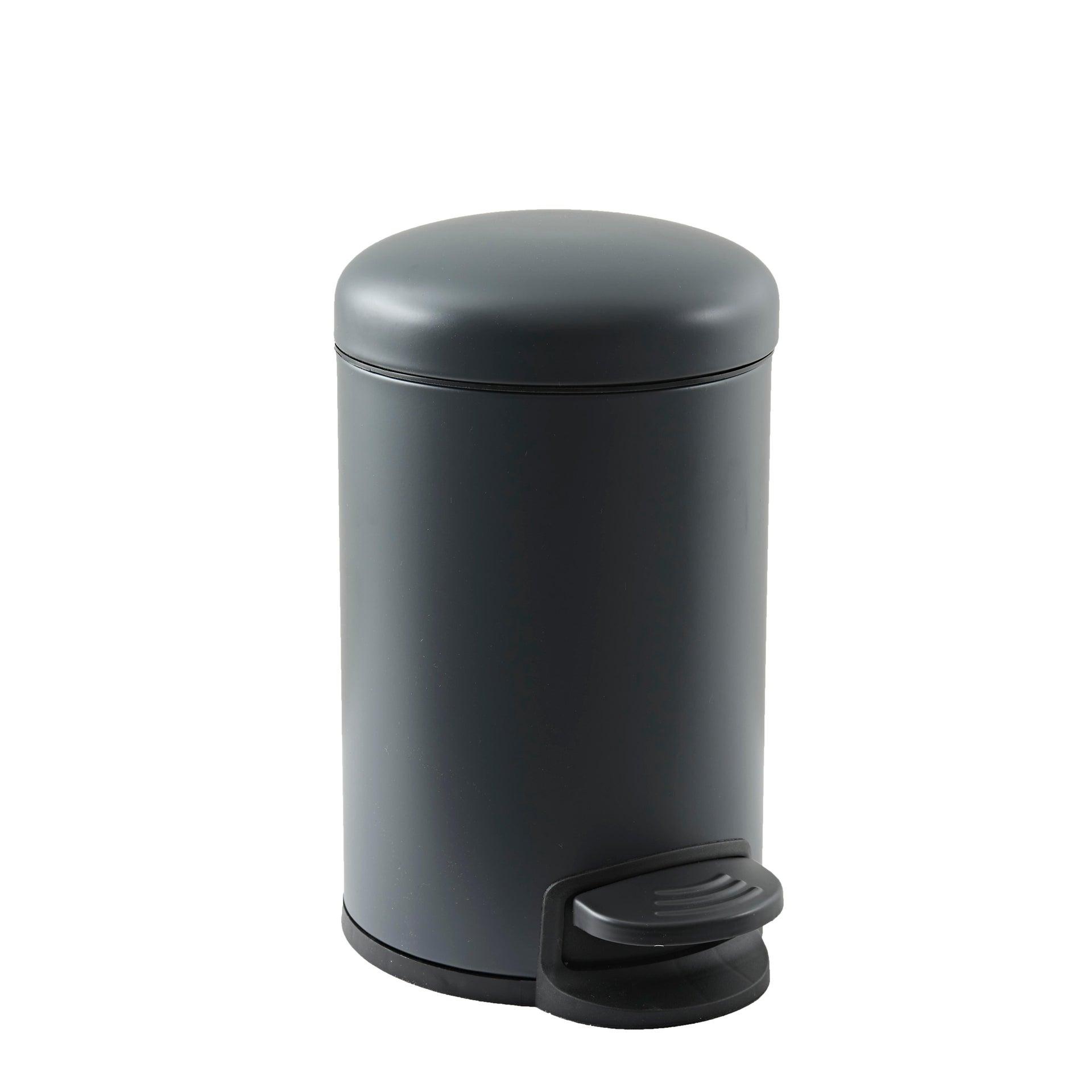 Pattumiera da bagno a pedale SENSEA 3 Lin acciaio - 1