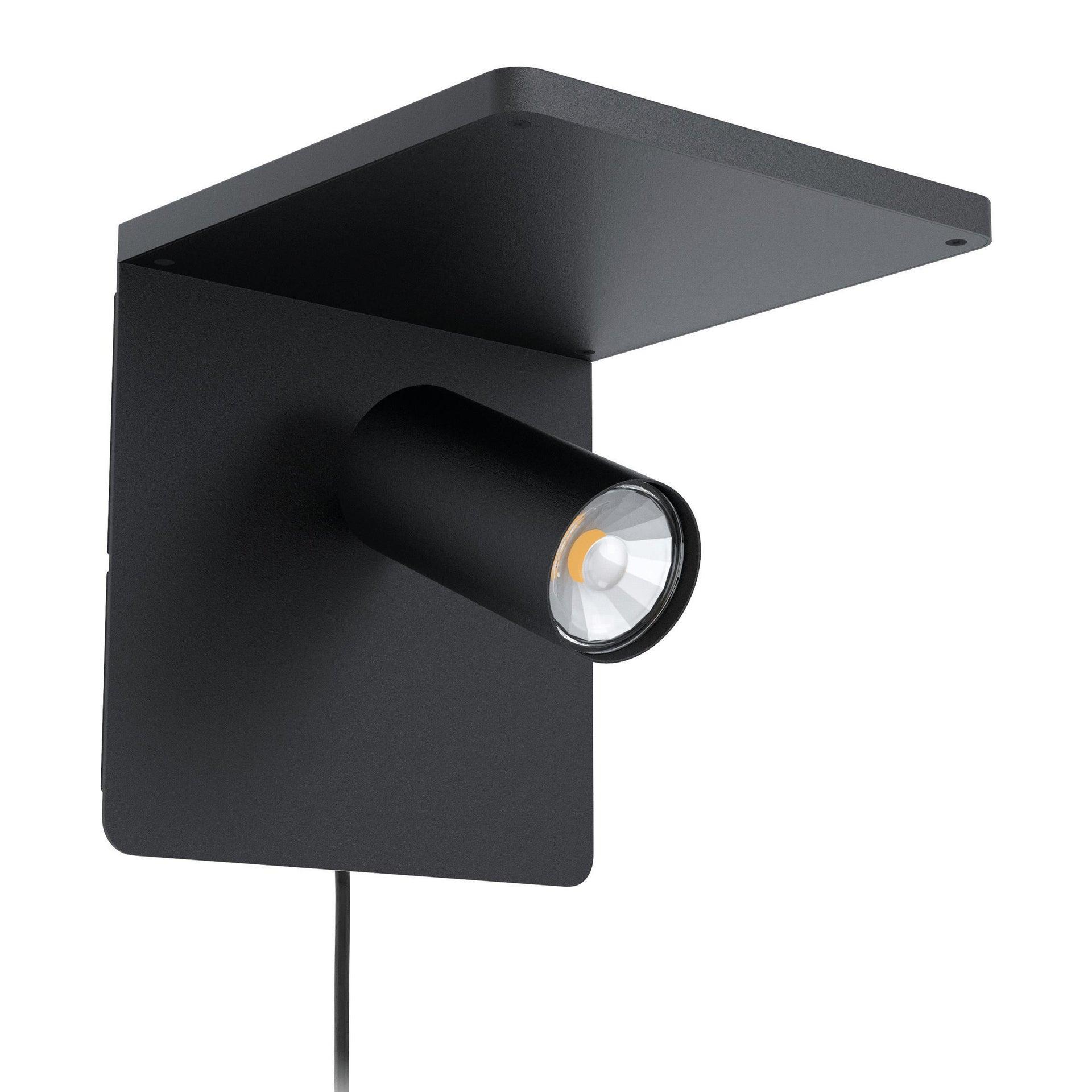 Applique design CIGLIE nero, in metallo, 18 cm, EGLO - 1